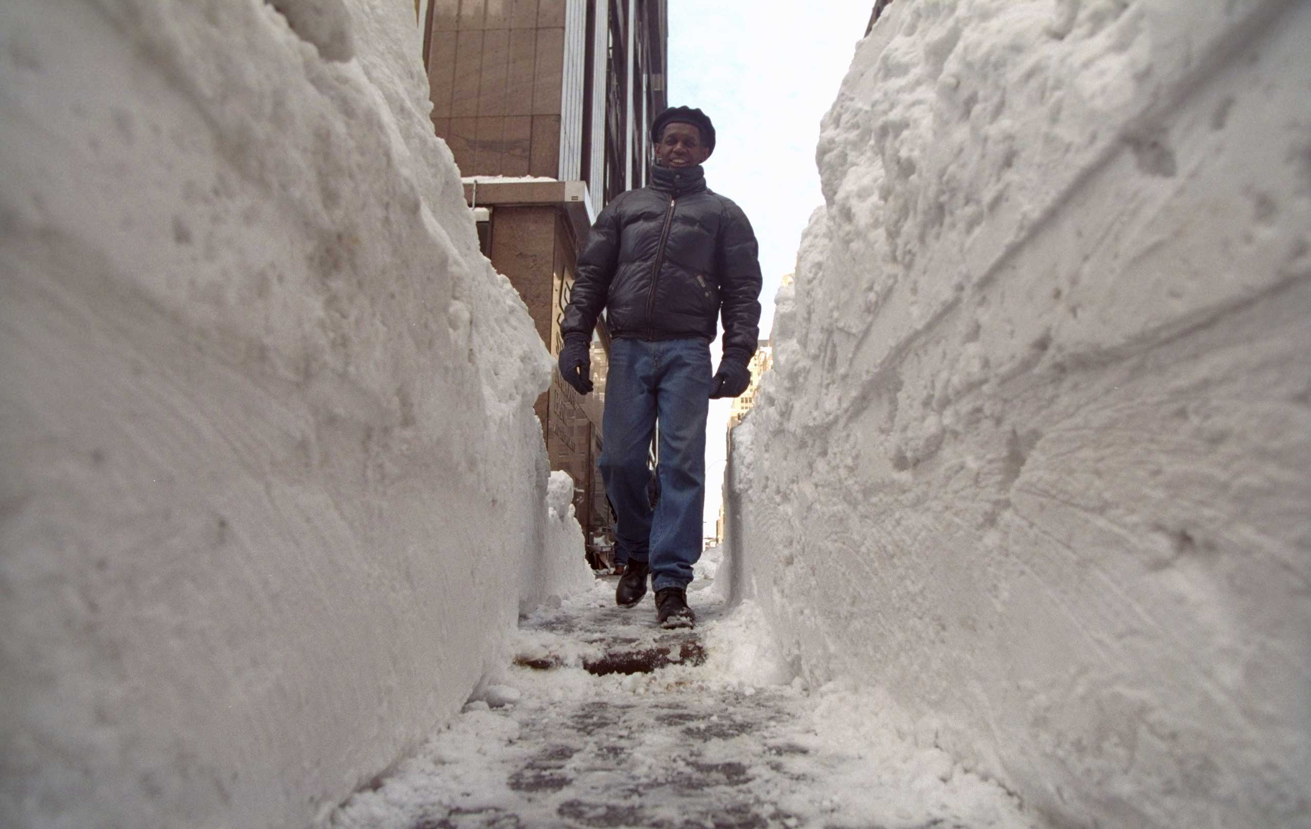 <b>The Blizzard of 1996 (Jan. 6-9, 1996)</b> The mid-Atlantic and Northeast regions received 2-3 feet of snow, with Philadelphia accumulating 30.7 inches - its highest snowfall record to date.