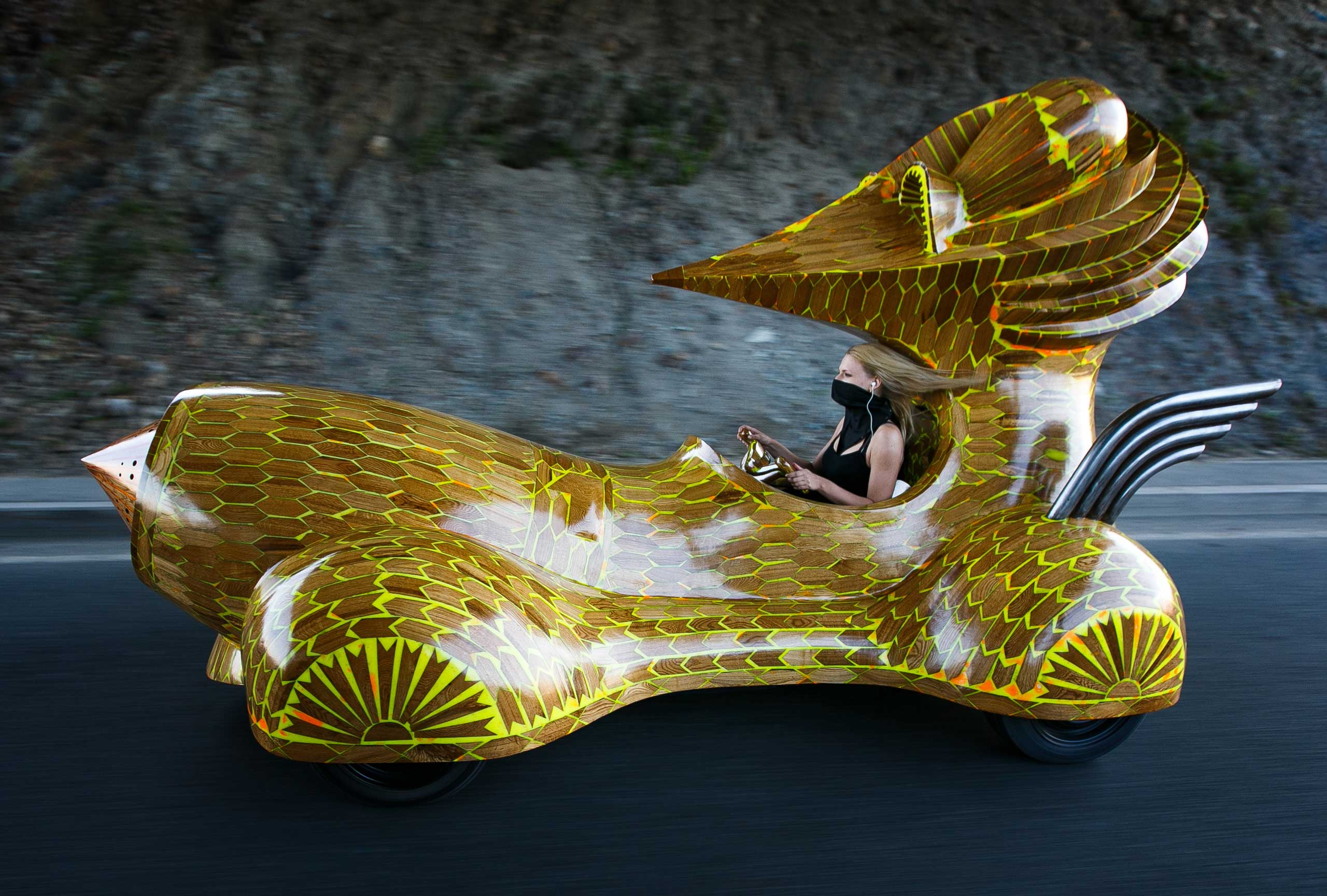 "It somehow doesn't feel like this car, designed by Russian artist Gosha Ostretsov, will fly off the shelves. But that's okay, because it's more <a href=""http://zaryavladivostok.ru/en/calendar/event/69"" target=""_blank"">art exhibit</a> than commercial vehicle."