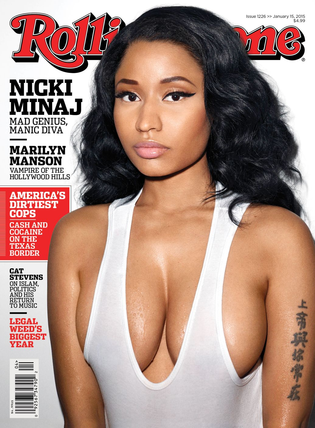 Nicki Minaj on the cover of Rolling Stone