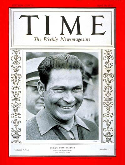 Fulgencio Batista on the Apr. 26, 1937, cover of TIME