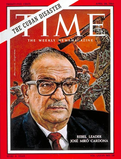 Jose Miro Cardona on the Apr. 28, 1961, cover of TIME