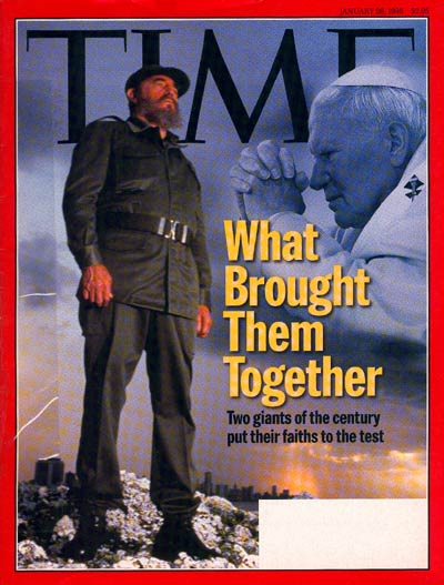 Fidel Castro and the Pope on the Jan. 26, 1998, cover of TIME