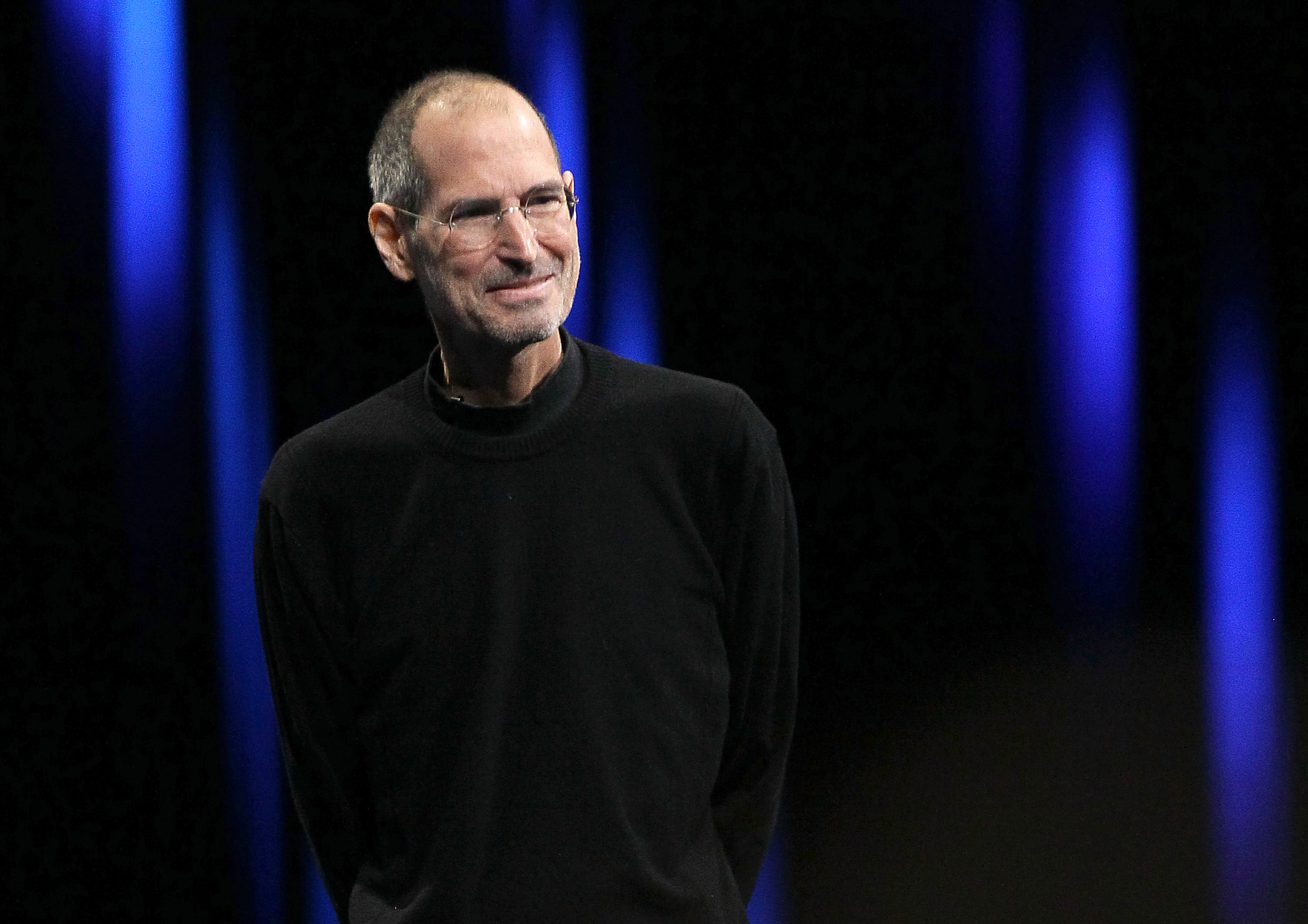 Apple CEO Steve Jobs delivers the keynote address at the 2011 Apple World Wide Developers Conference at the Moscone Center on June 6, 2011 in San Francisco.