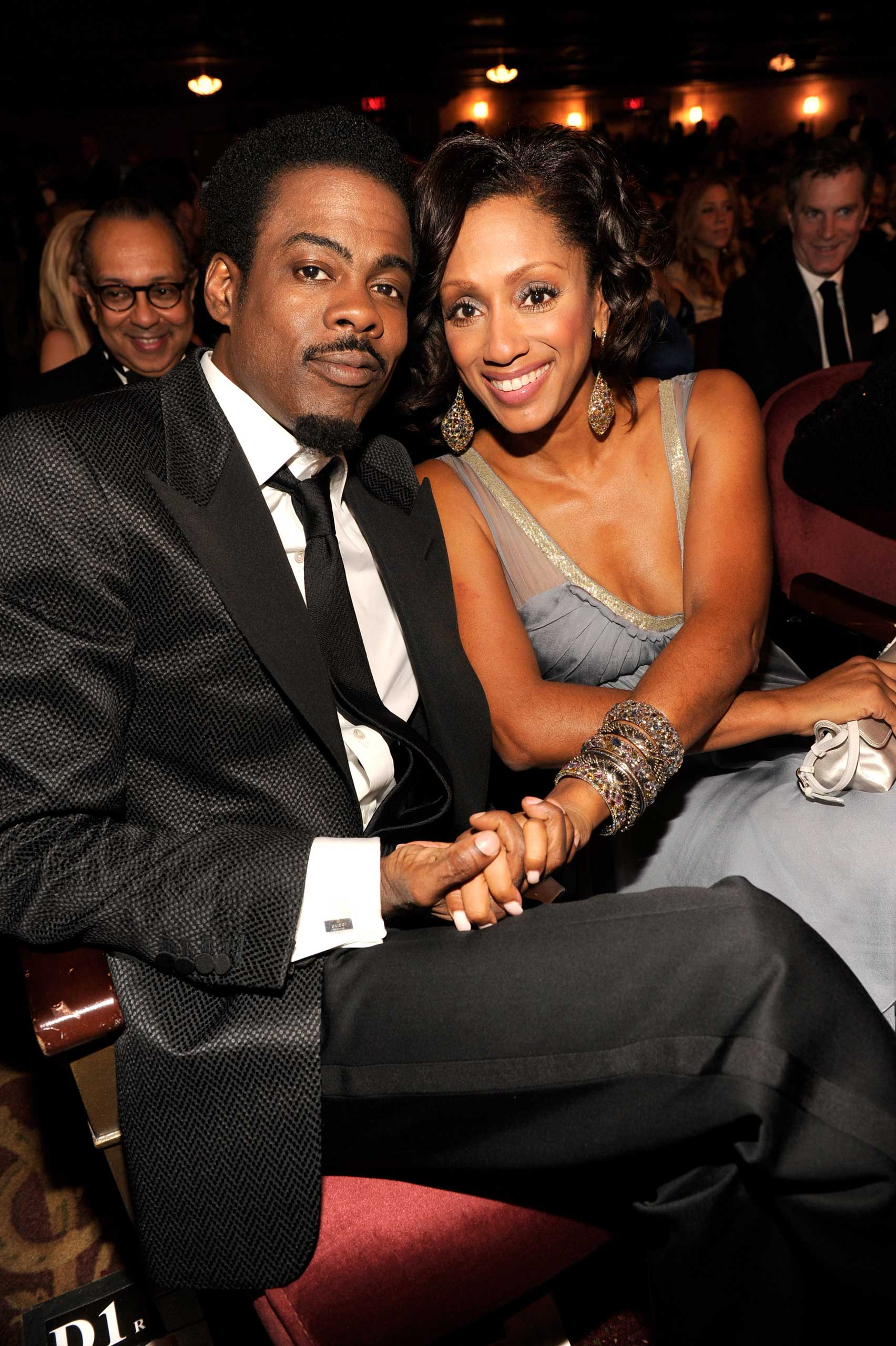Chris Rock and Malaak Compton Rock at the 65th Annual Tony Awards at the Beacon Theatre on June 12, 2011 in New York City.