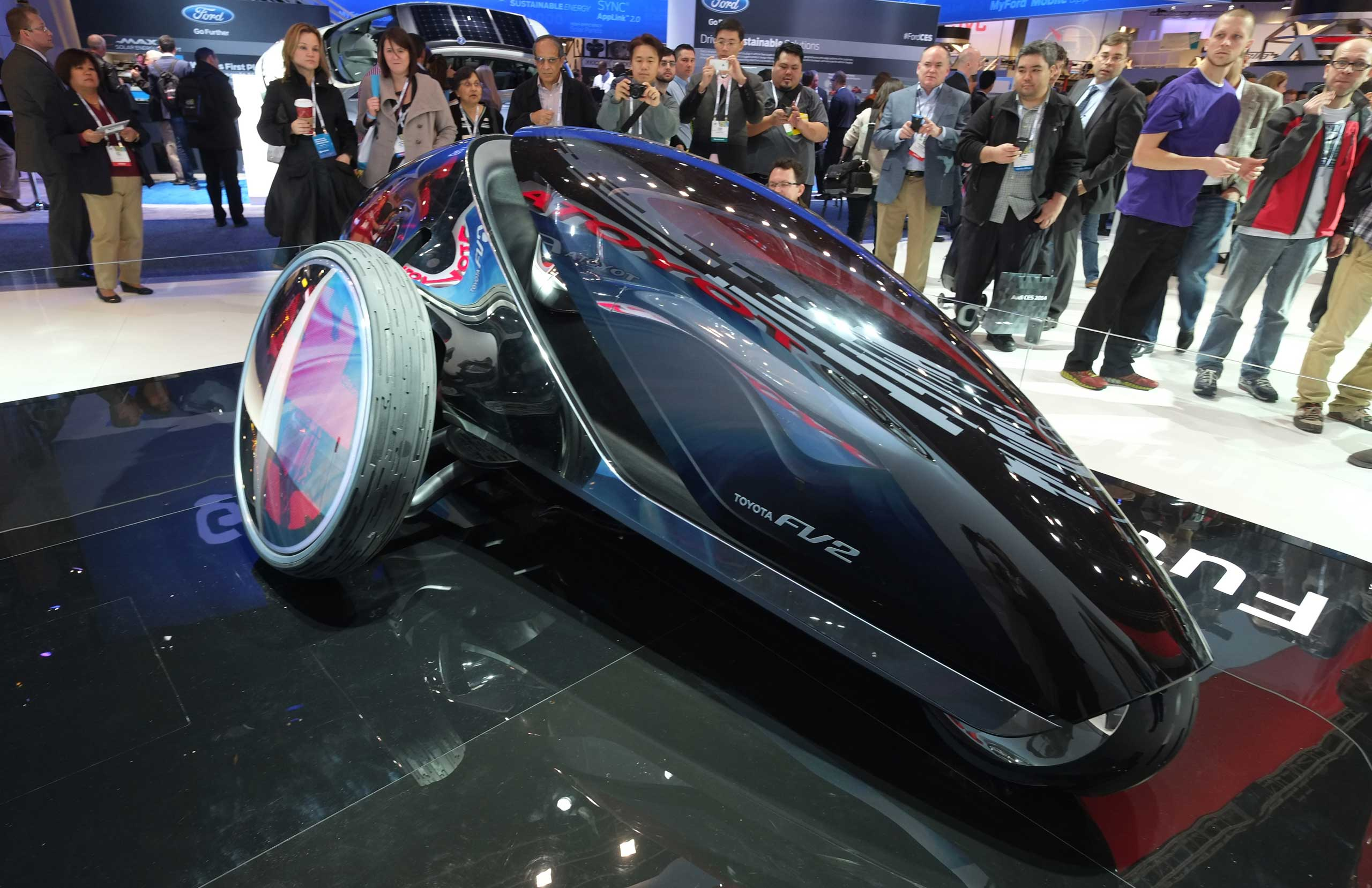 One day, we'll all finally get to ride those light-cycles from <em>Tron</em>. For now, there's Toyota's FV2 concept car.
