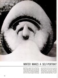 A snow-covered trailer wheel in Kentucky, 1953.