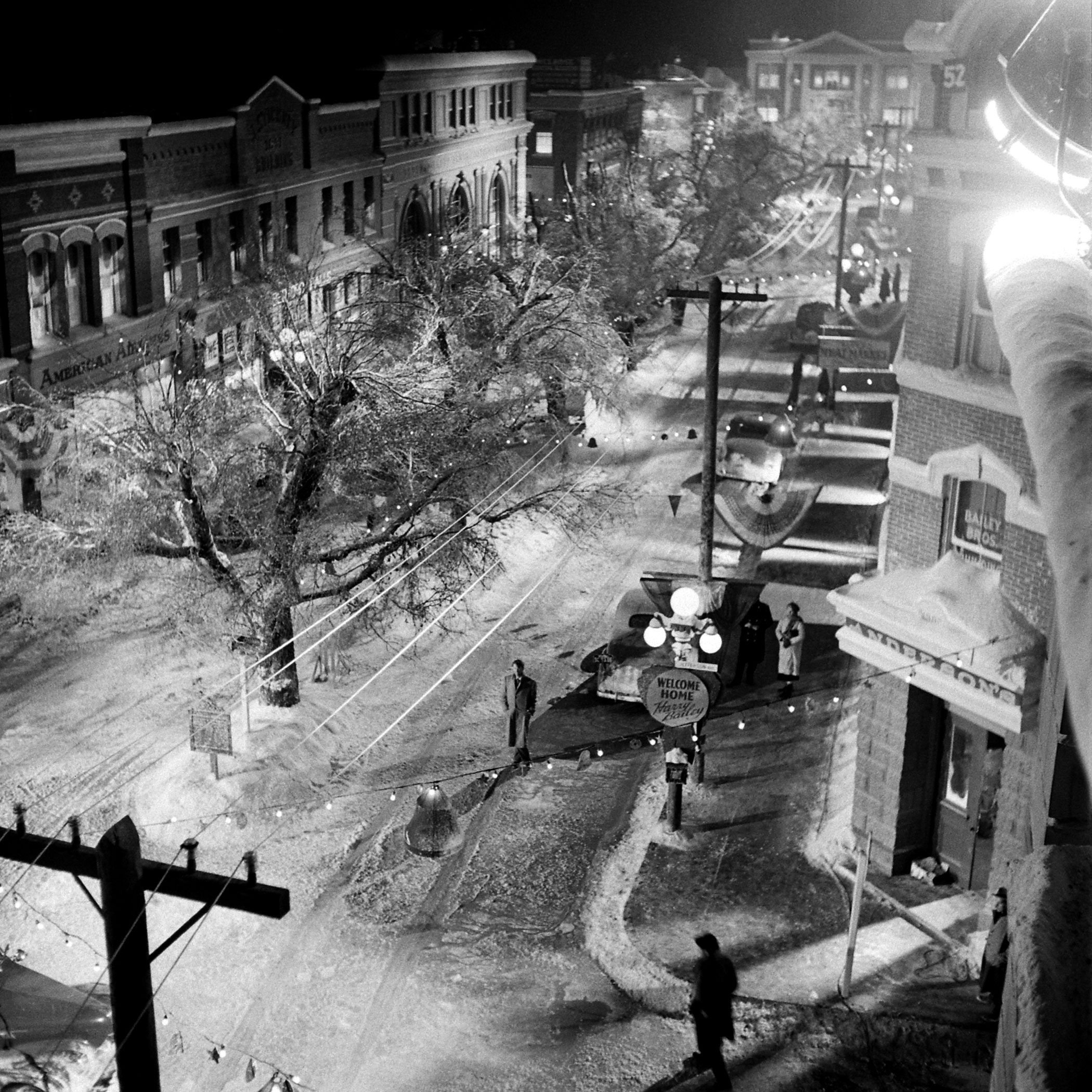 <b>Not published in LIFE.</b> Bedford Falls, a.k.a., the set of <i>It's a Wonderful Life</i>.