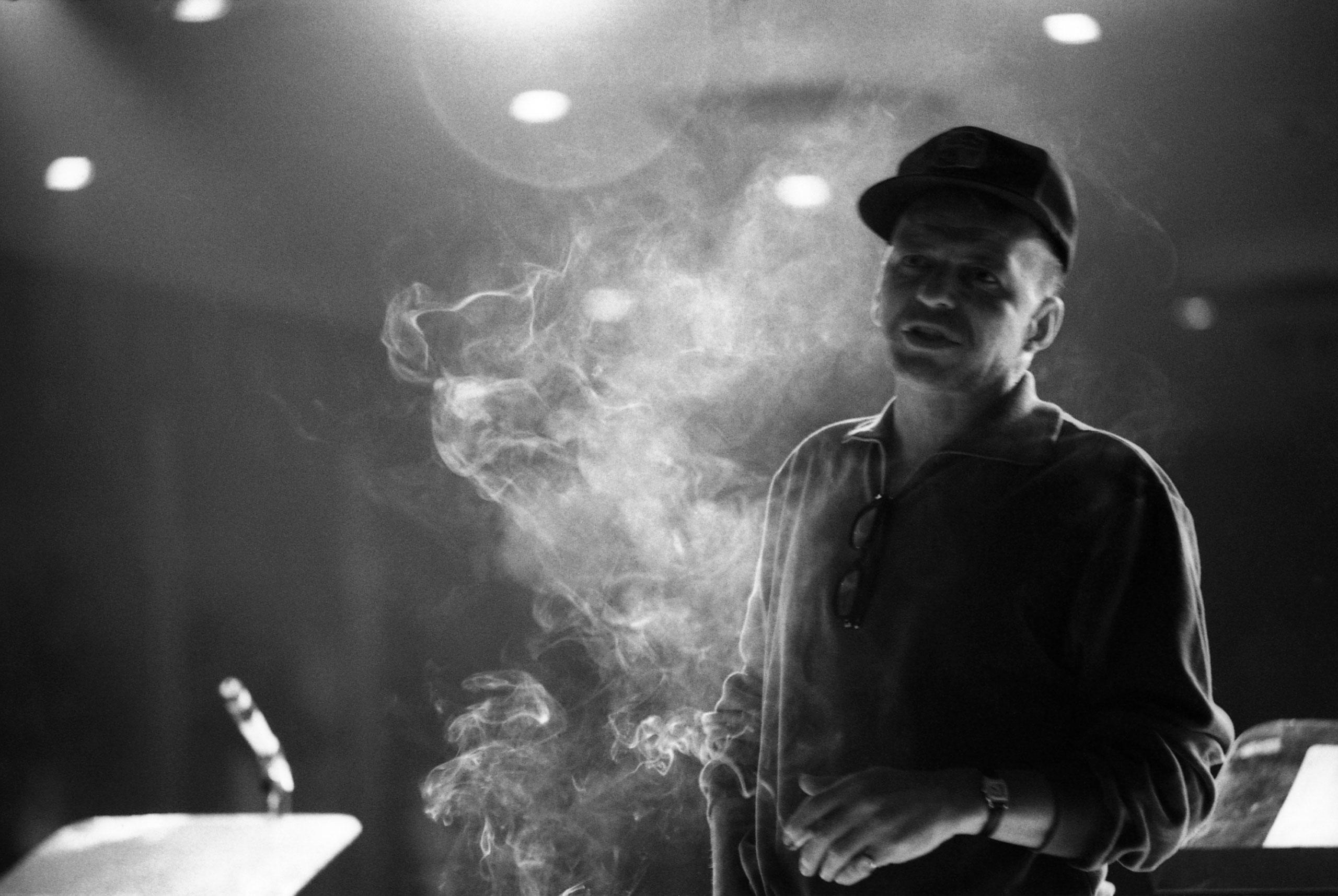 Frank Sinatra in rehearsal, 1965