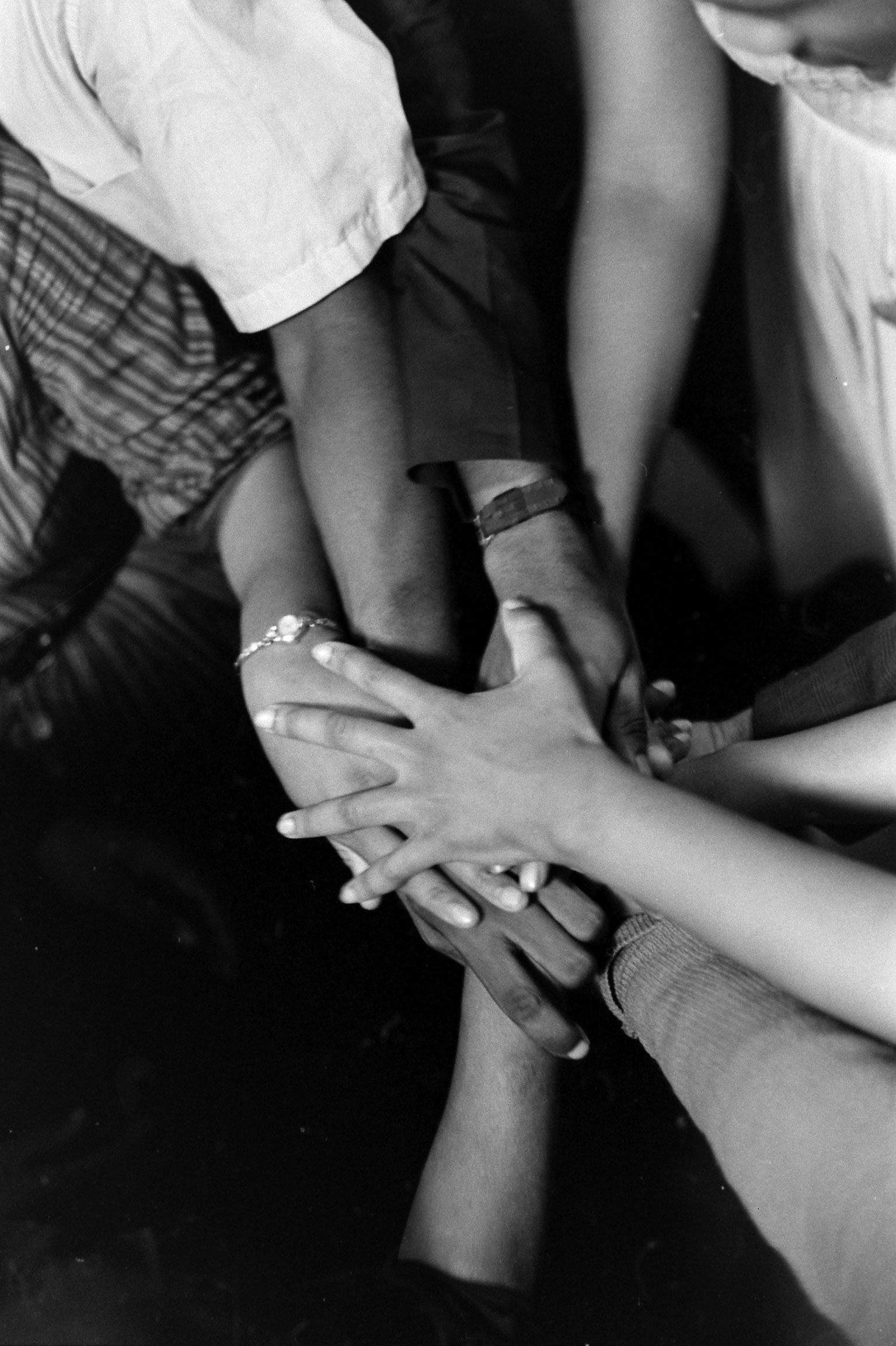 At a safe house in Montgomery, Ala., freedom riders pray after being rescued from First Baptist Church.