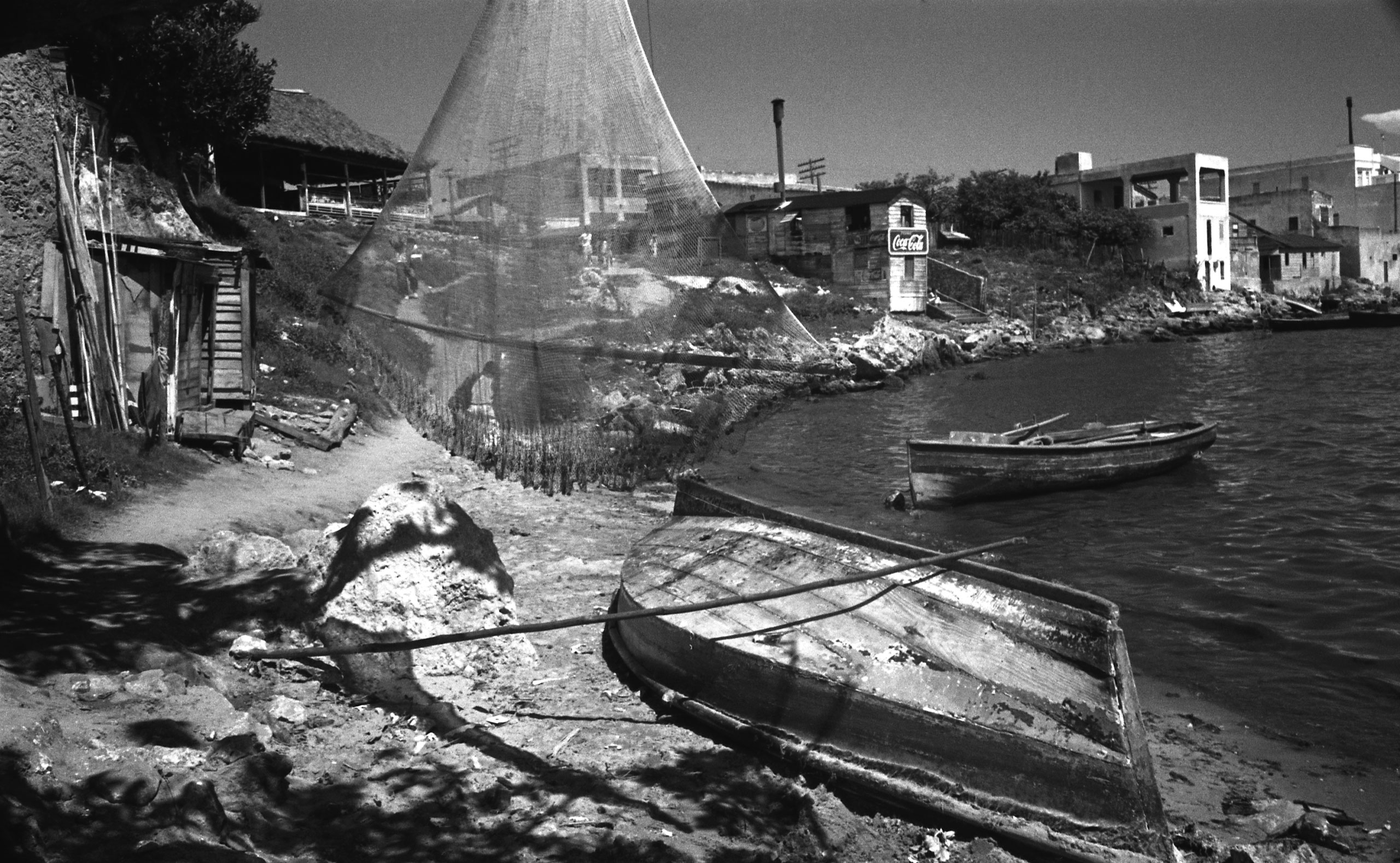 Cojimar, a Cuban fishing village and the inspiration for the village in Hemingway's novel, <i>The Old Man and the Sea</i>, August 1952.
