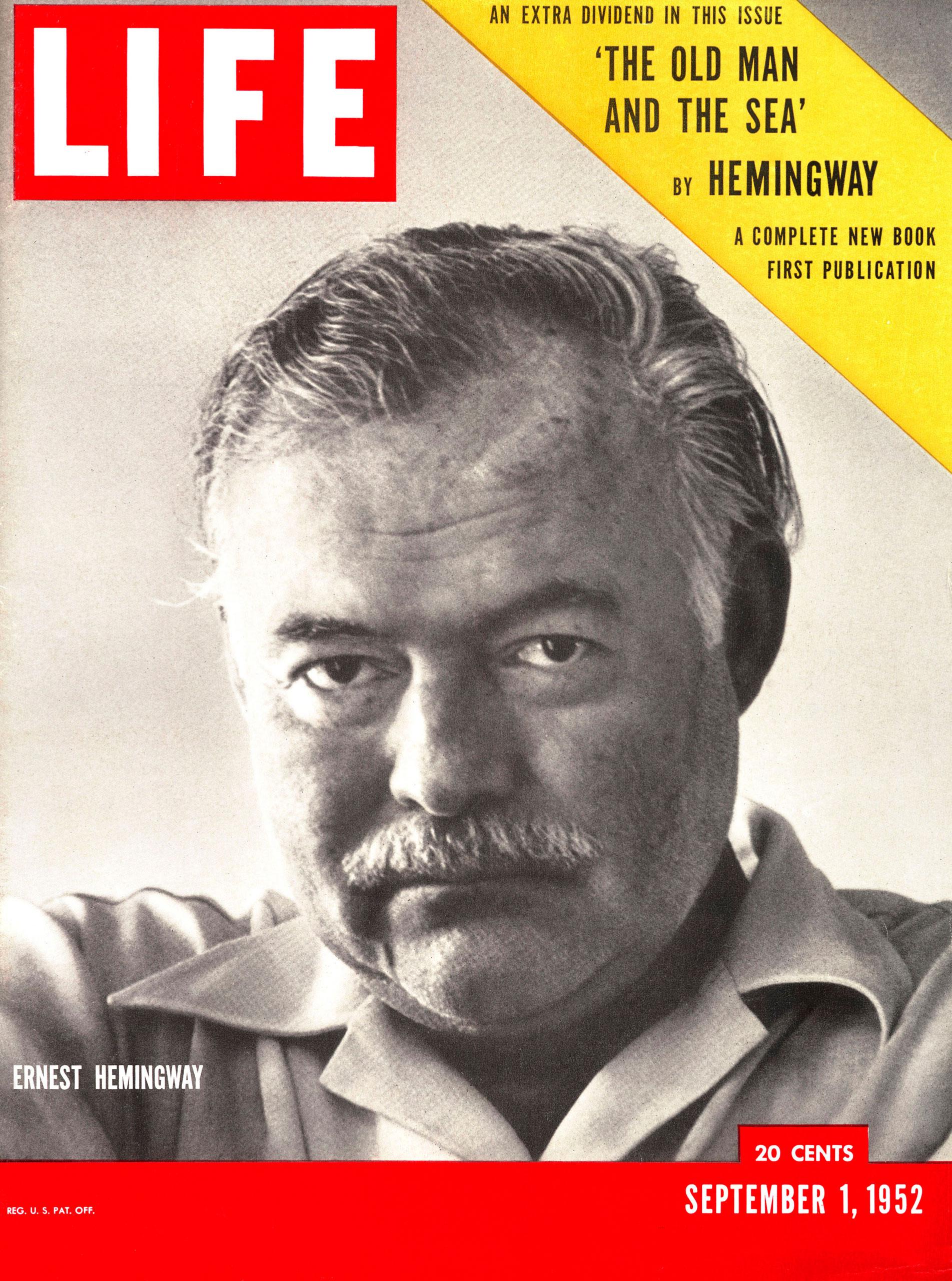 Ernest Hemingway LIFE Magazine cover, September 1, 1952.