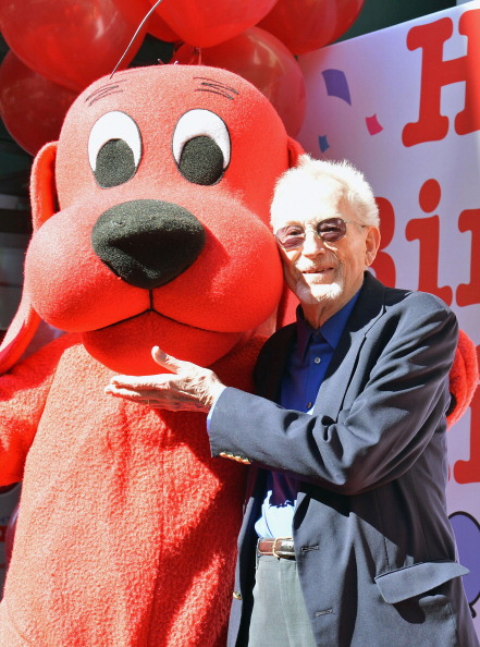 Clifford's creator, Norman Bridwell, attends Clifford The Big Red Dog 50th Anniversary Celebration at Scholastic Inc. Headquarters on Sept. 24, 2012 in New York City