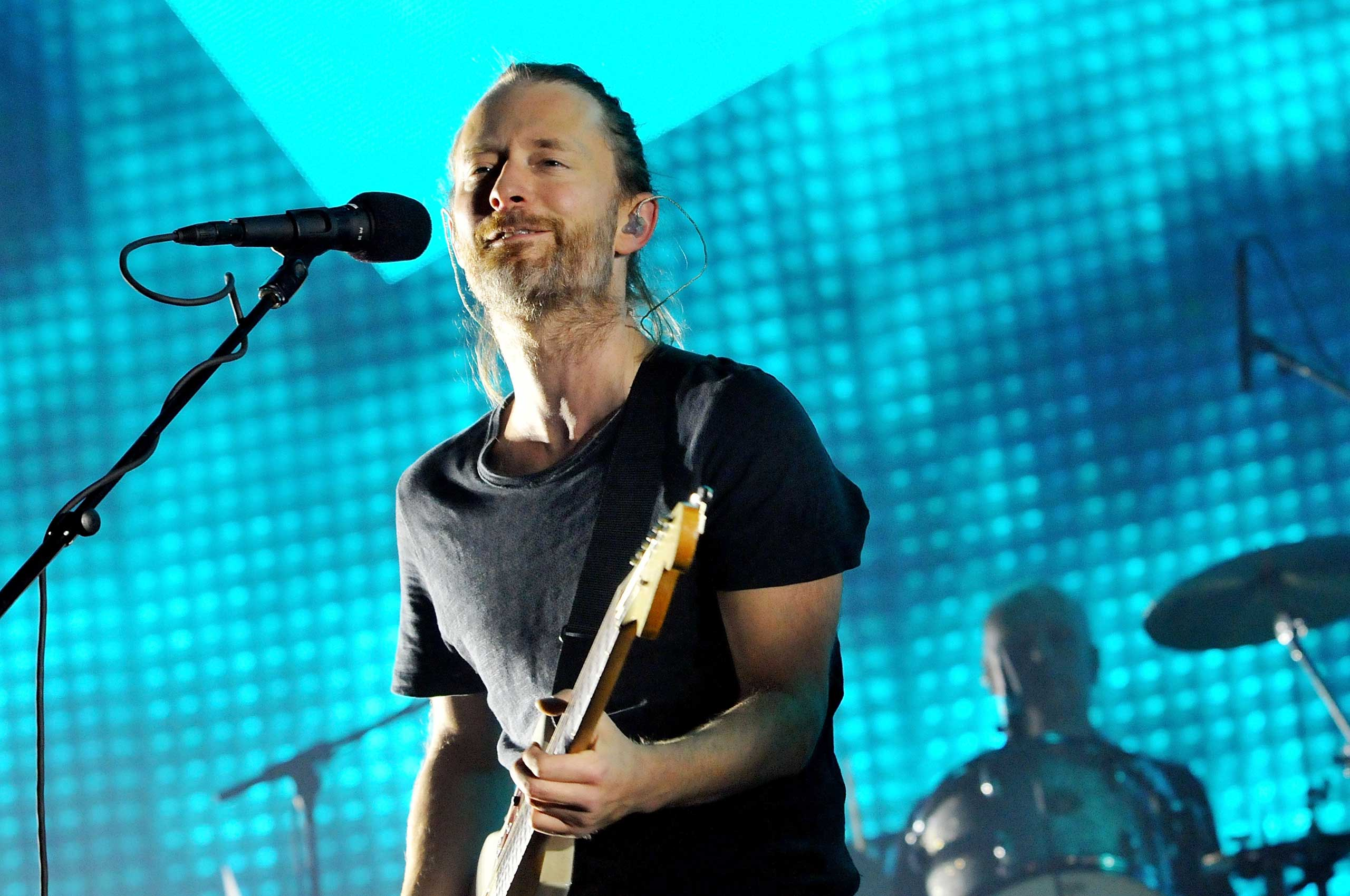 Thom Yorke performs in London, Oct. 8, 2012.