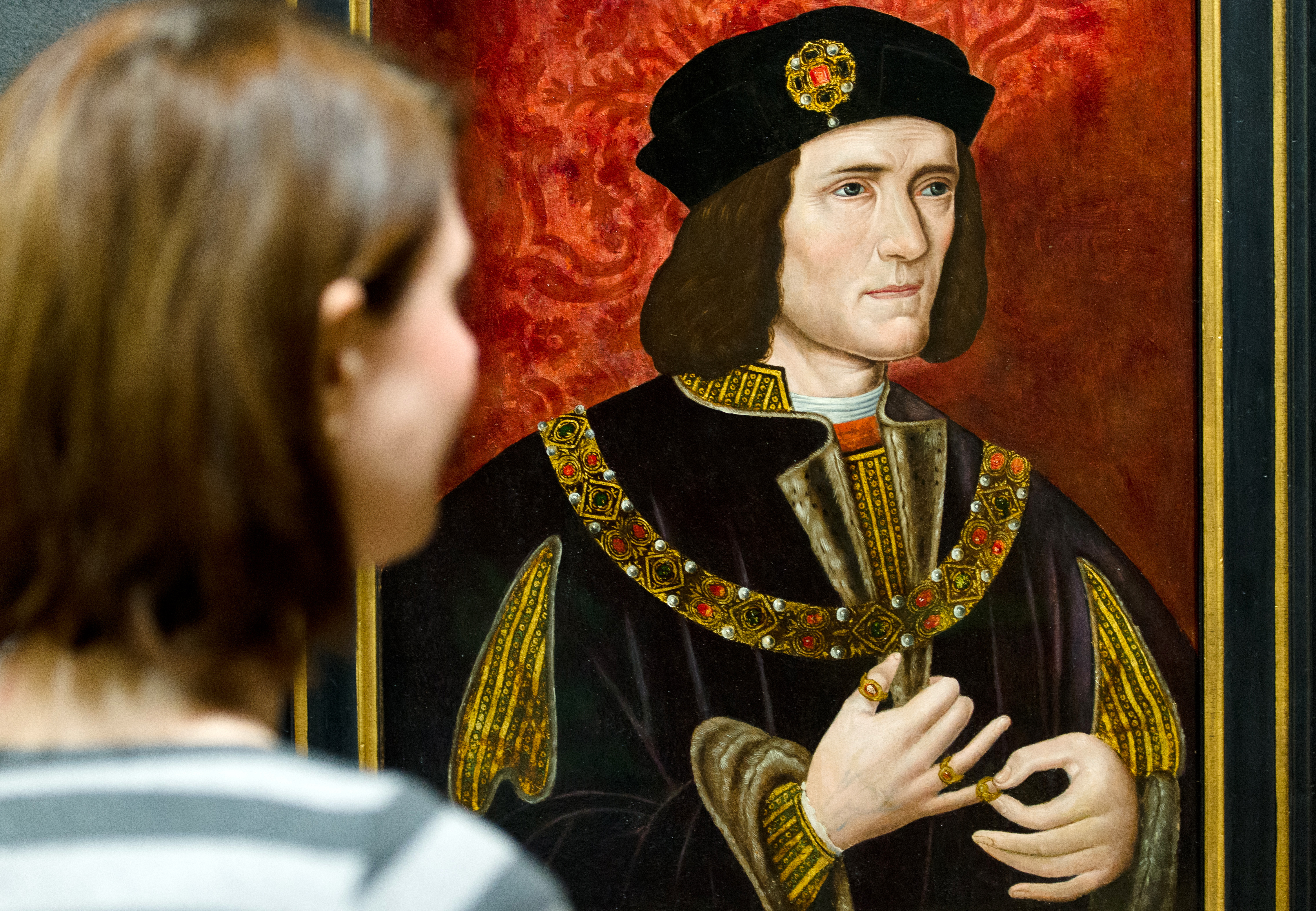 A painting of Britain's King Richard III by an unknown artist is displayed in the National Portrait Gallery in central London on January 25, 2013.