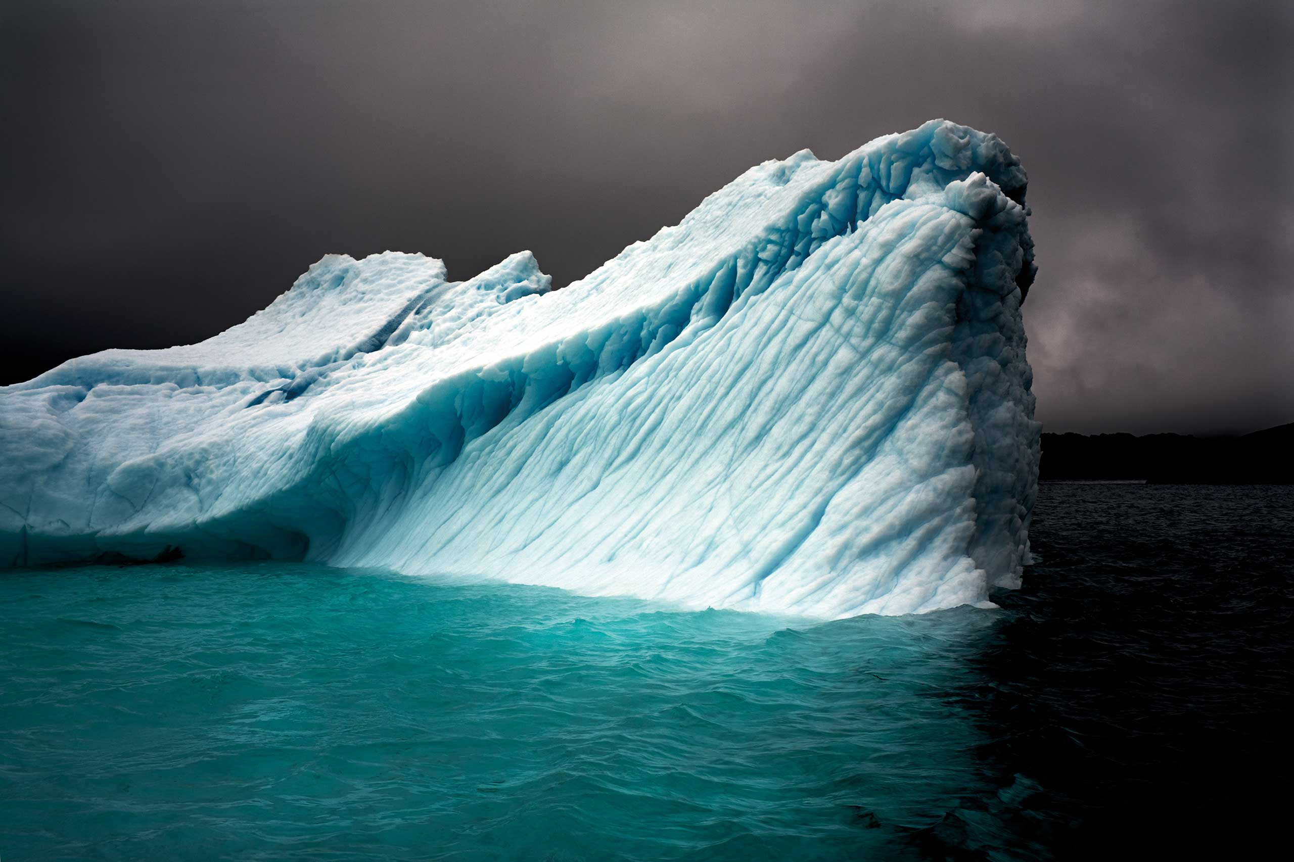 <i>Breaching Iceberg</i>Greenland, August 2008