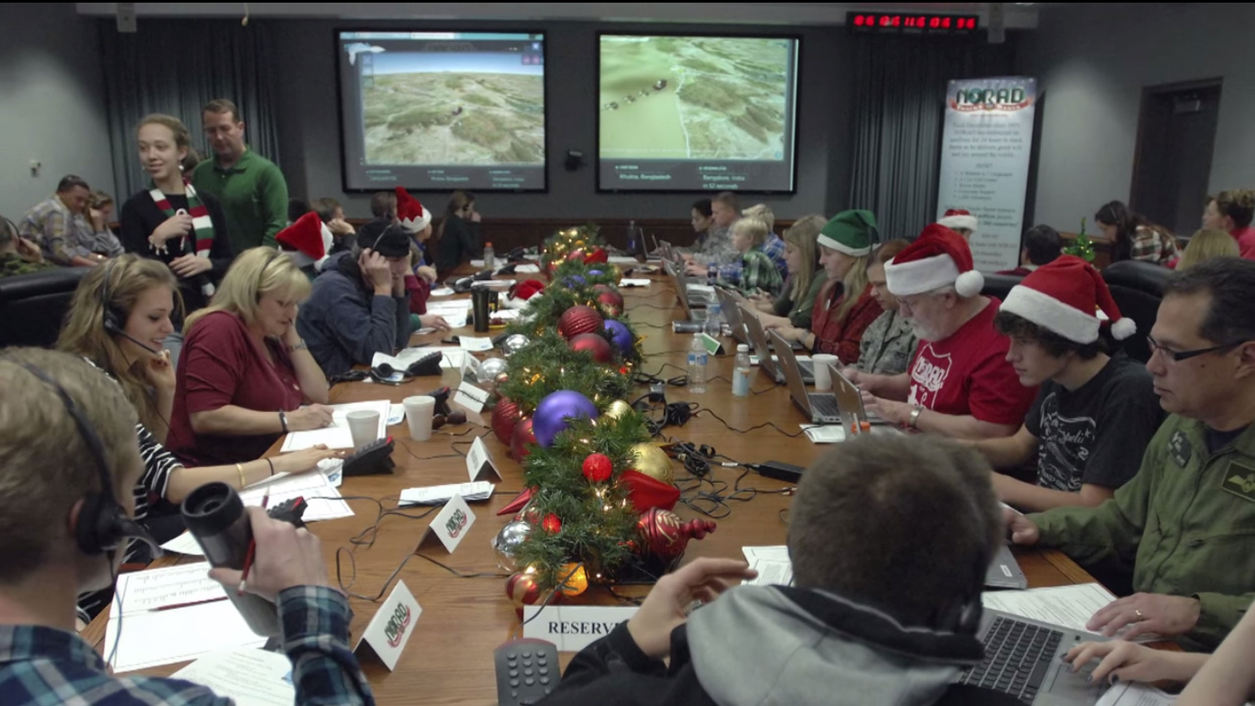 NORAD tracks Santa as he starts his journey on Dec. 24, 2014. Santa Claus has embarked on his annual Christmas Eve mission to deliver presents to millions of children after a smooth take-off from his North Pole base, at least according to U.S. military officials who track his reindeer-powered sleigh.