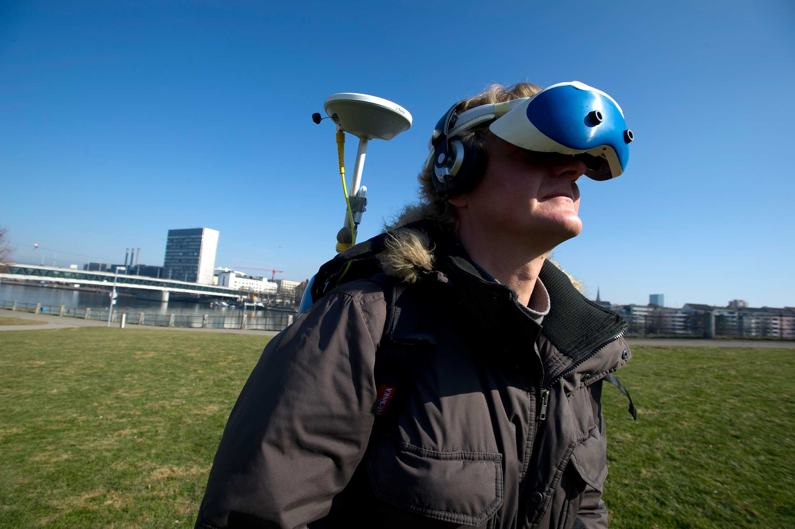<strong>2012</strong>                                                                      Peter Kenny                                   Jan Torpus, director of Lifeclipper project, tested the immersive augmented reality equipment in St Johanns Park in Basel, Switzerland.