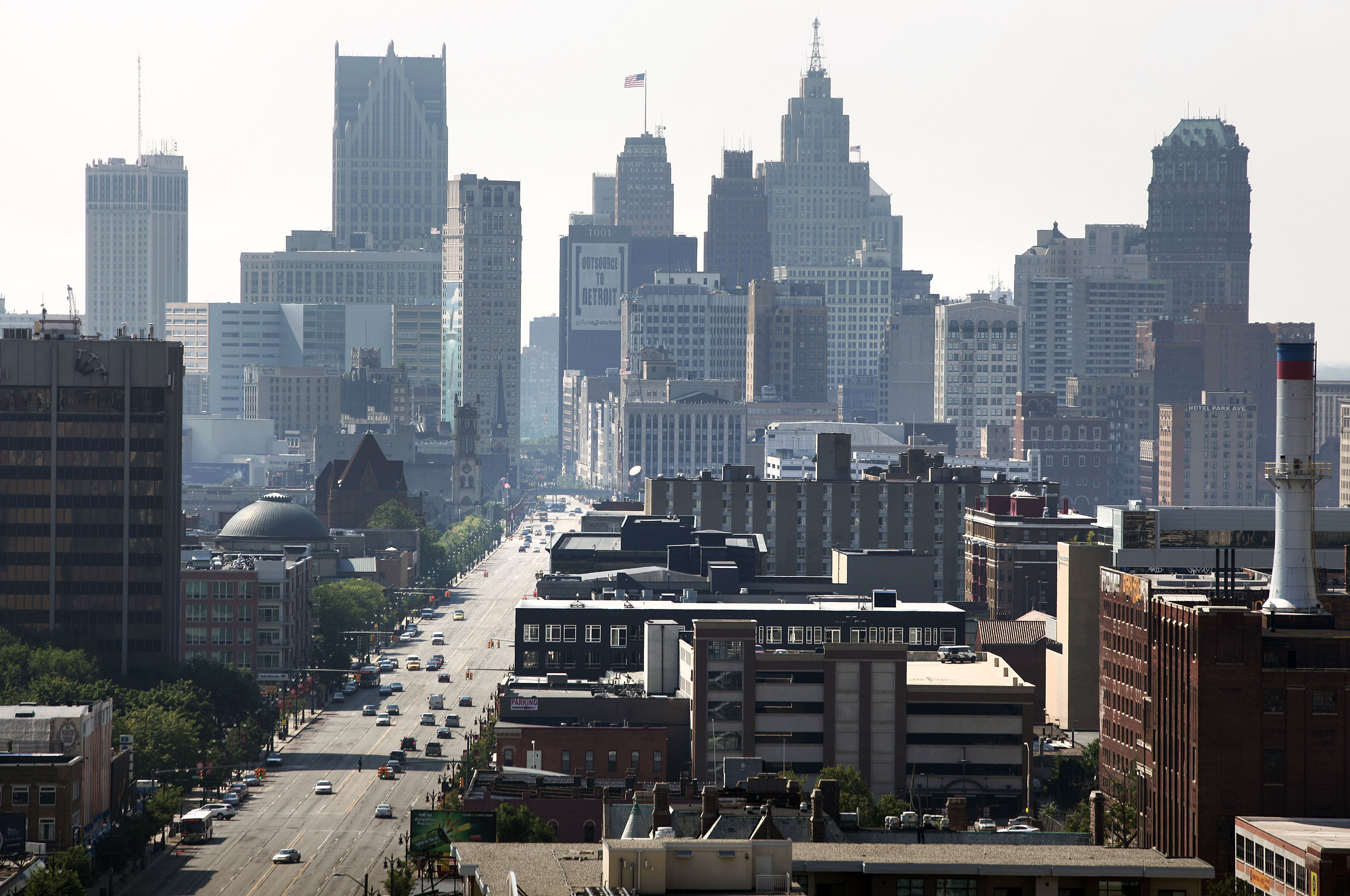 A view of Downtown Detroit on July 19, 2013.