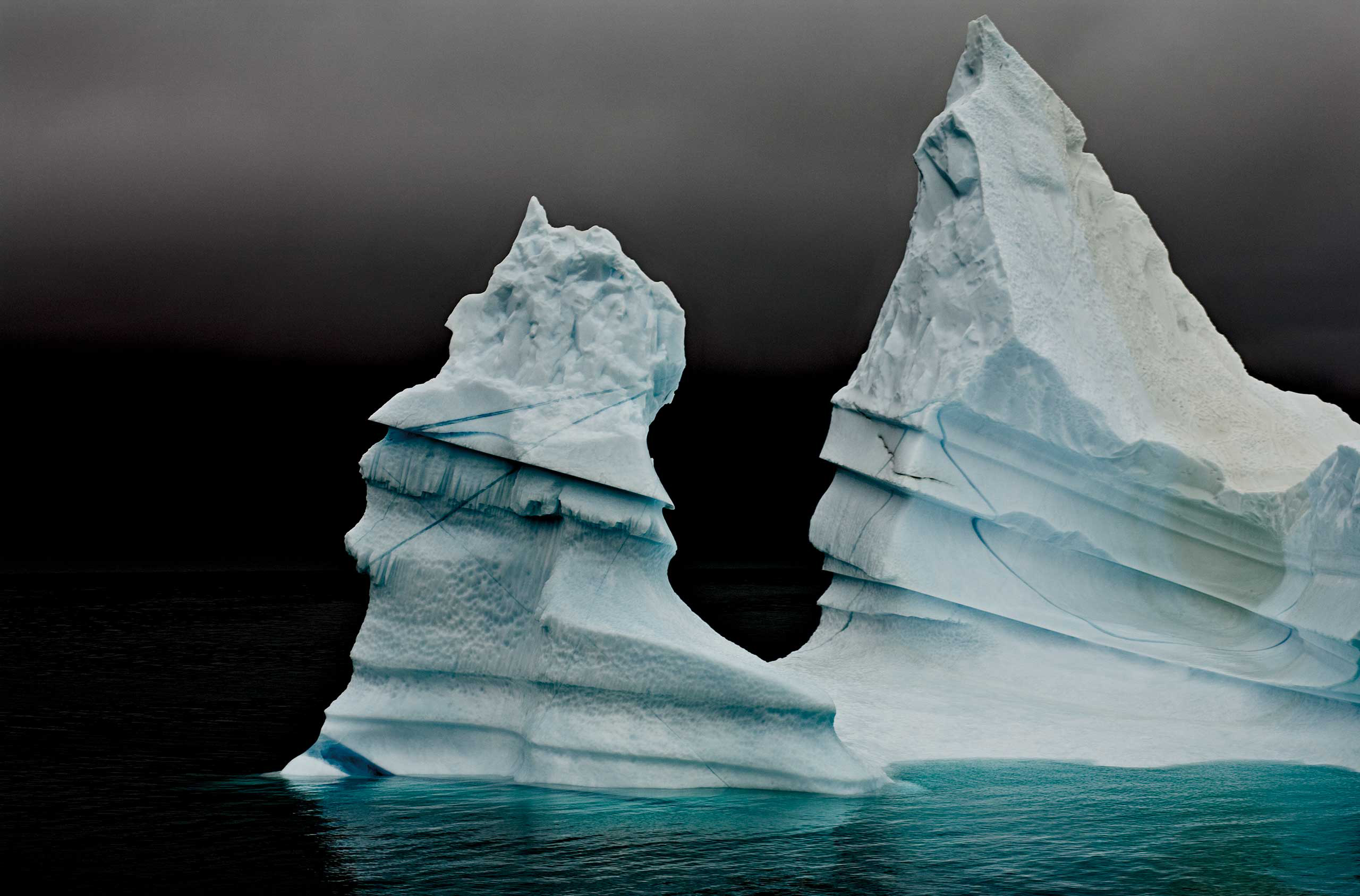<i>Grand Pinnacle Iceberg Detail</i>Eastern Greenland, August 2006