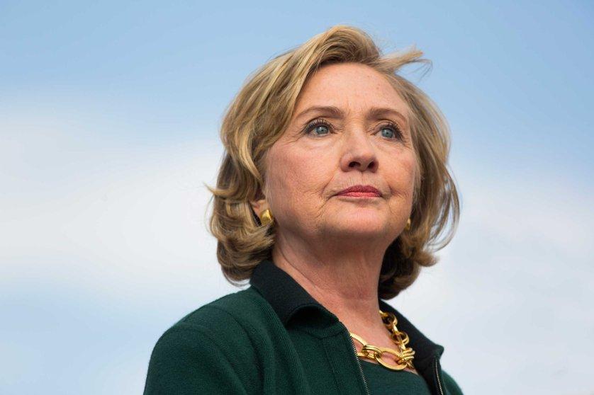 USA - Hillary Clinton speaks at Iowa Senator Tom Harken'a annual Steak Fry