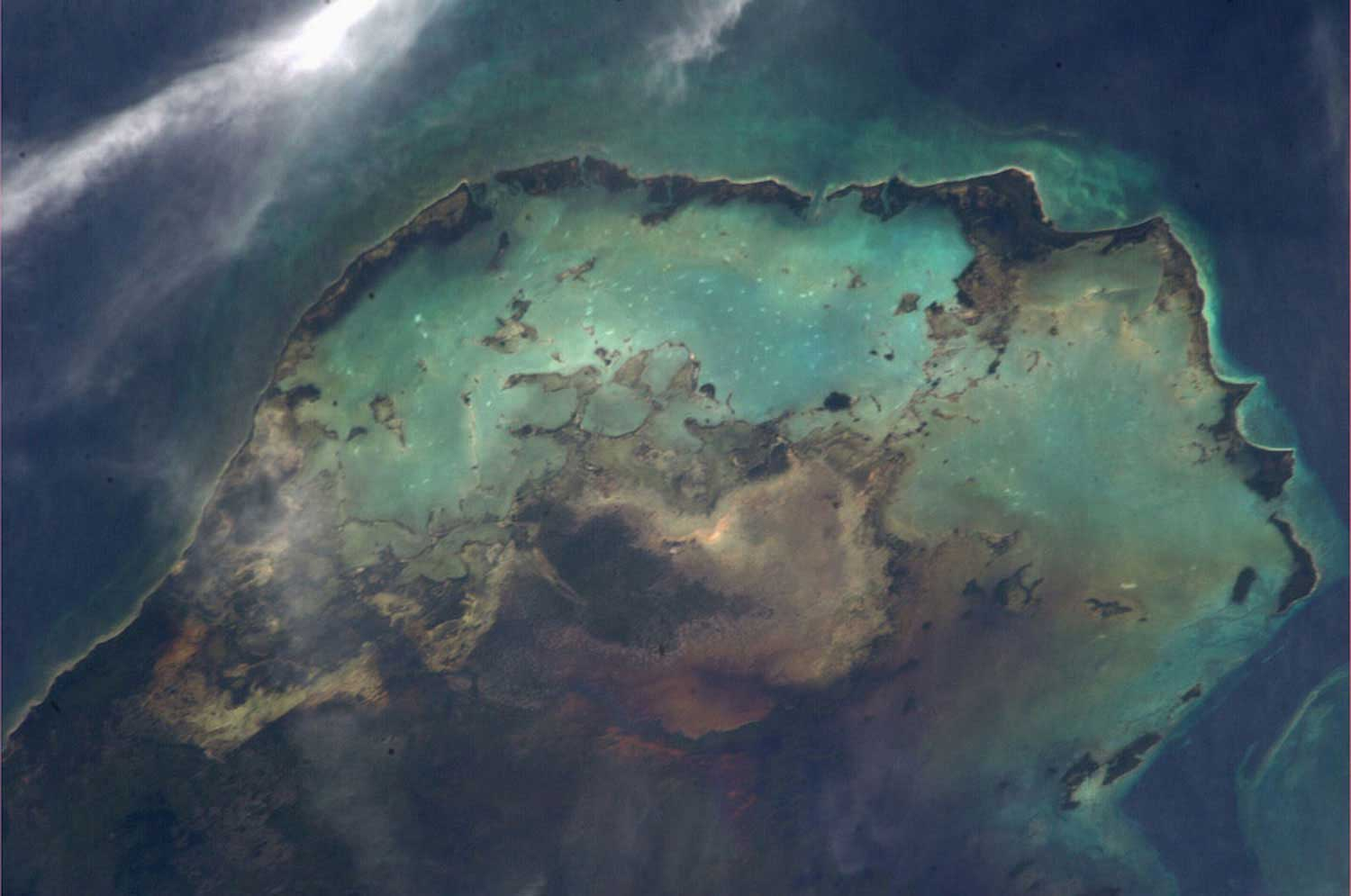 The Caribbean Sea, as seen from the international space station on Aug. 13, 2013.