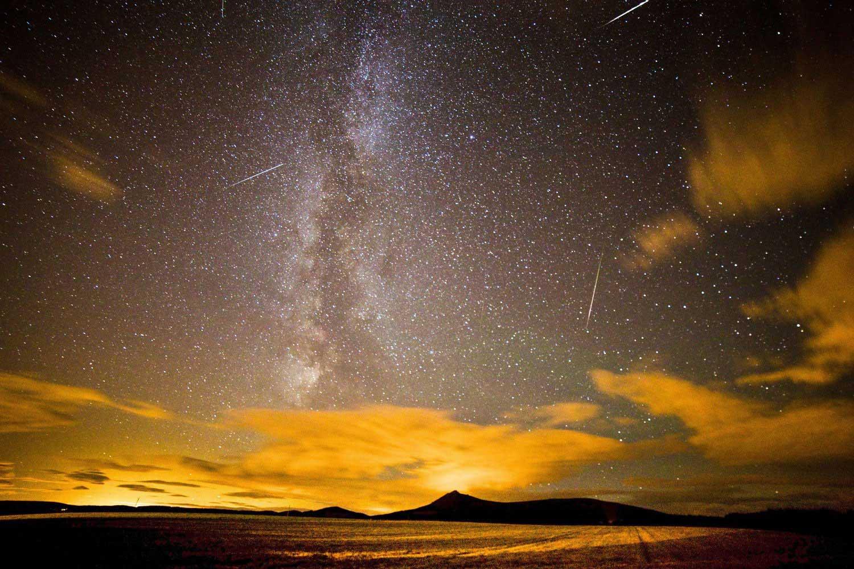 The annual Perseid meteor shower at Chapel of Garioch, near Aberdeen, Scotland, on Aug. 12, 2013.