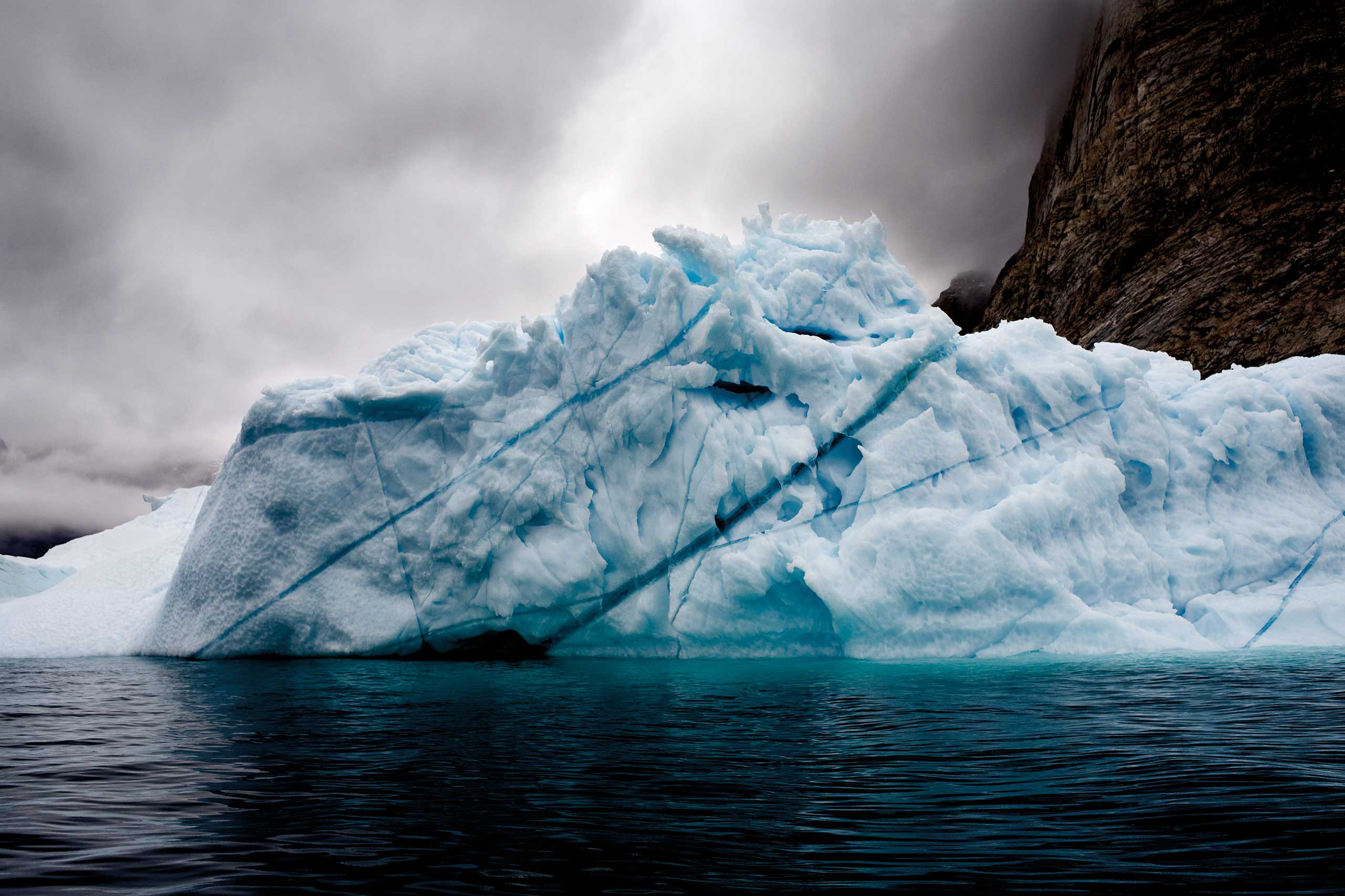 <i>Trapped Iceberg</i>Eastern Greenland, August 2006