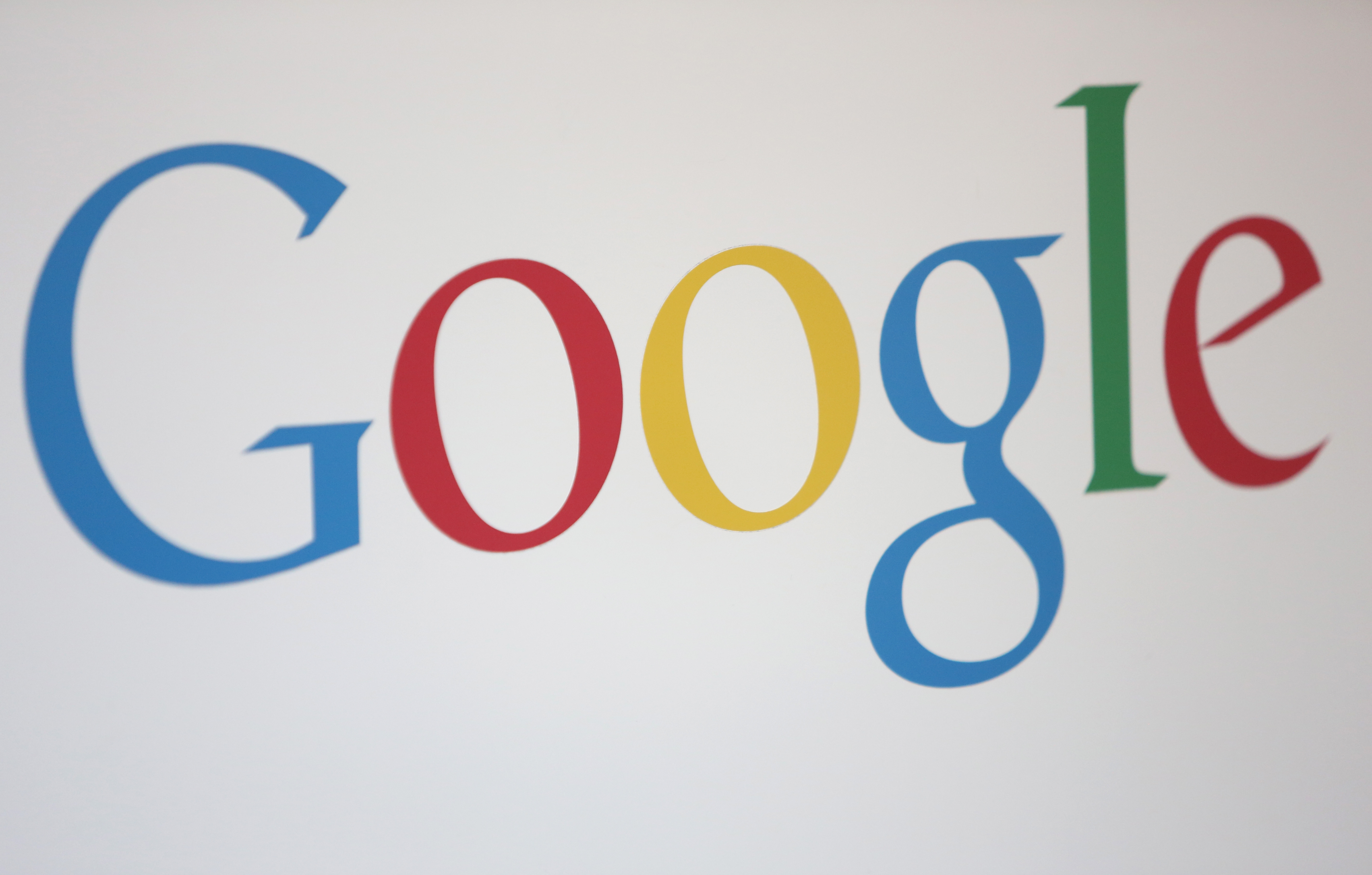 The Google logo is seen at the company's offices on August 21, 2014 in Berlin, Germany.