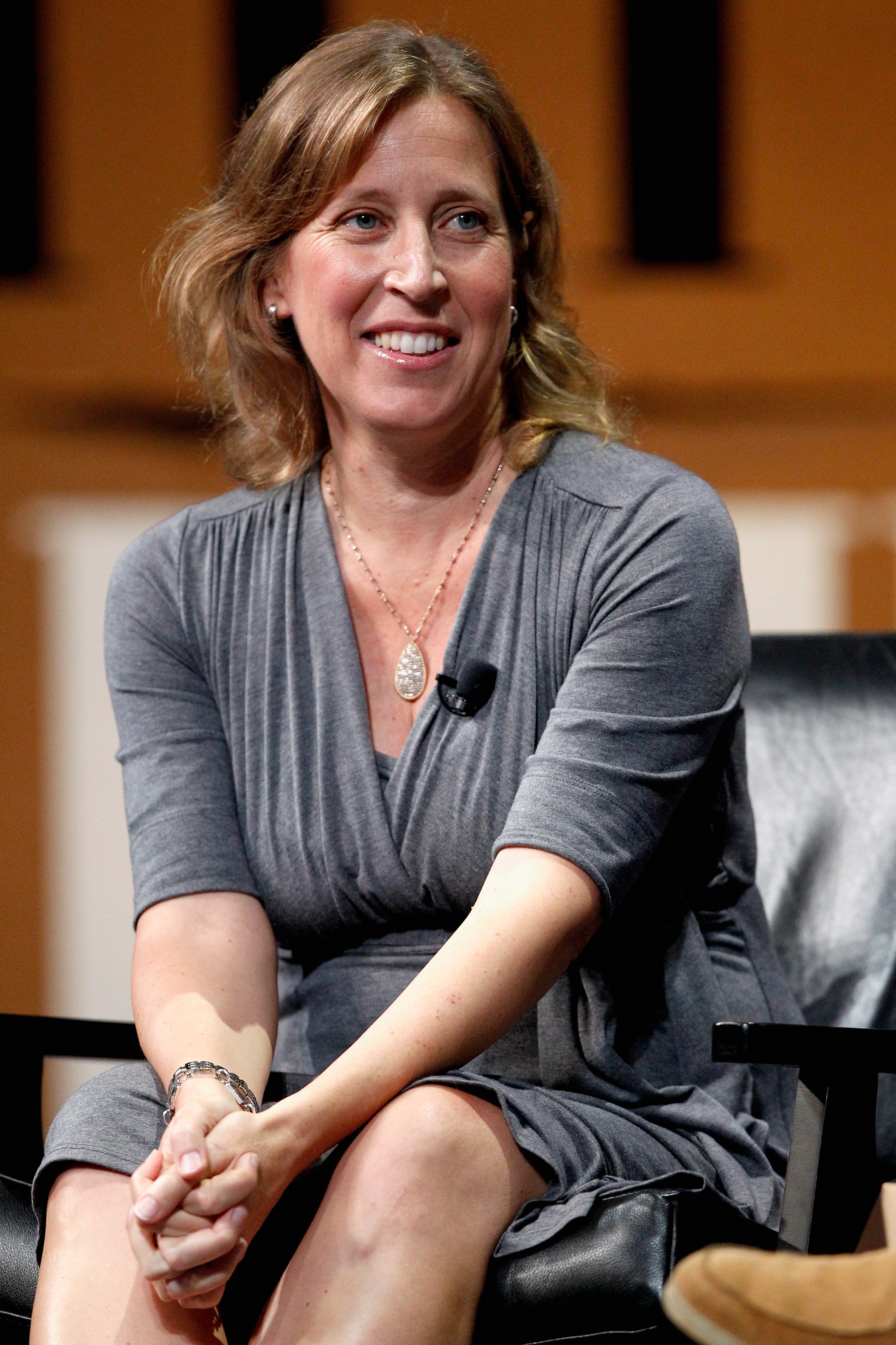 Youtube CEO Susan Wojcicki speak onstage during  Who Owns Your Screen?  at the Vanity Fair New Establishment Summit on October 9, 2014 in San Francisco, California.  (Kimberly White--Getty Images for Vanity Fair)