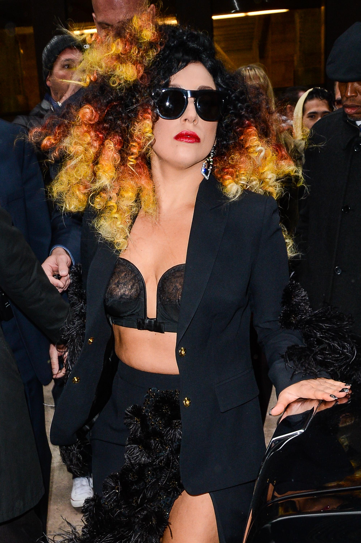 Singer Lady Gaga leaves the Sirius XM Studios in New York City on Dec. 2, 2014