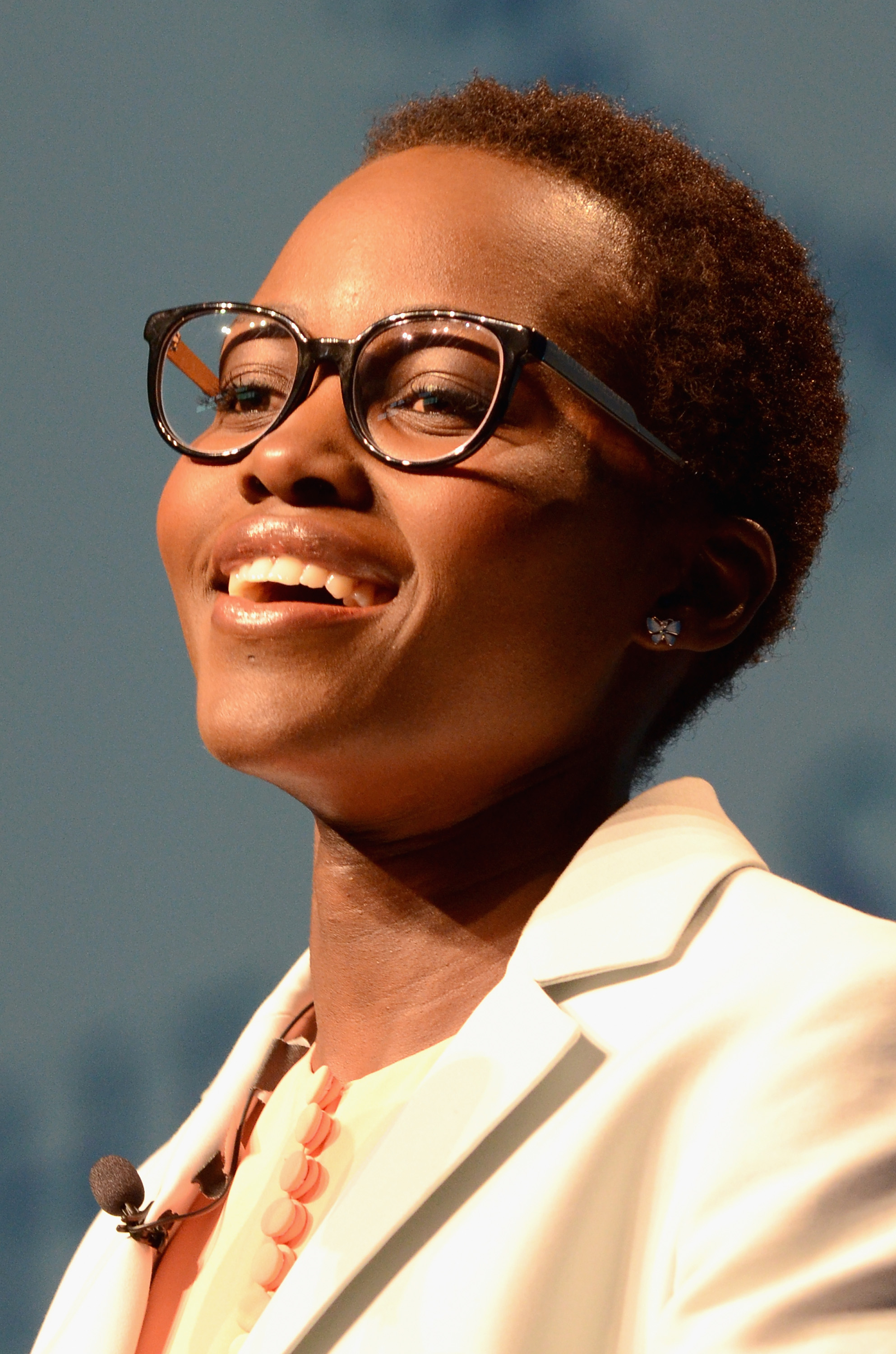 Actress Lupita Nyong'o speaks on stage at the 2014 Massachusetts Conference for Women