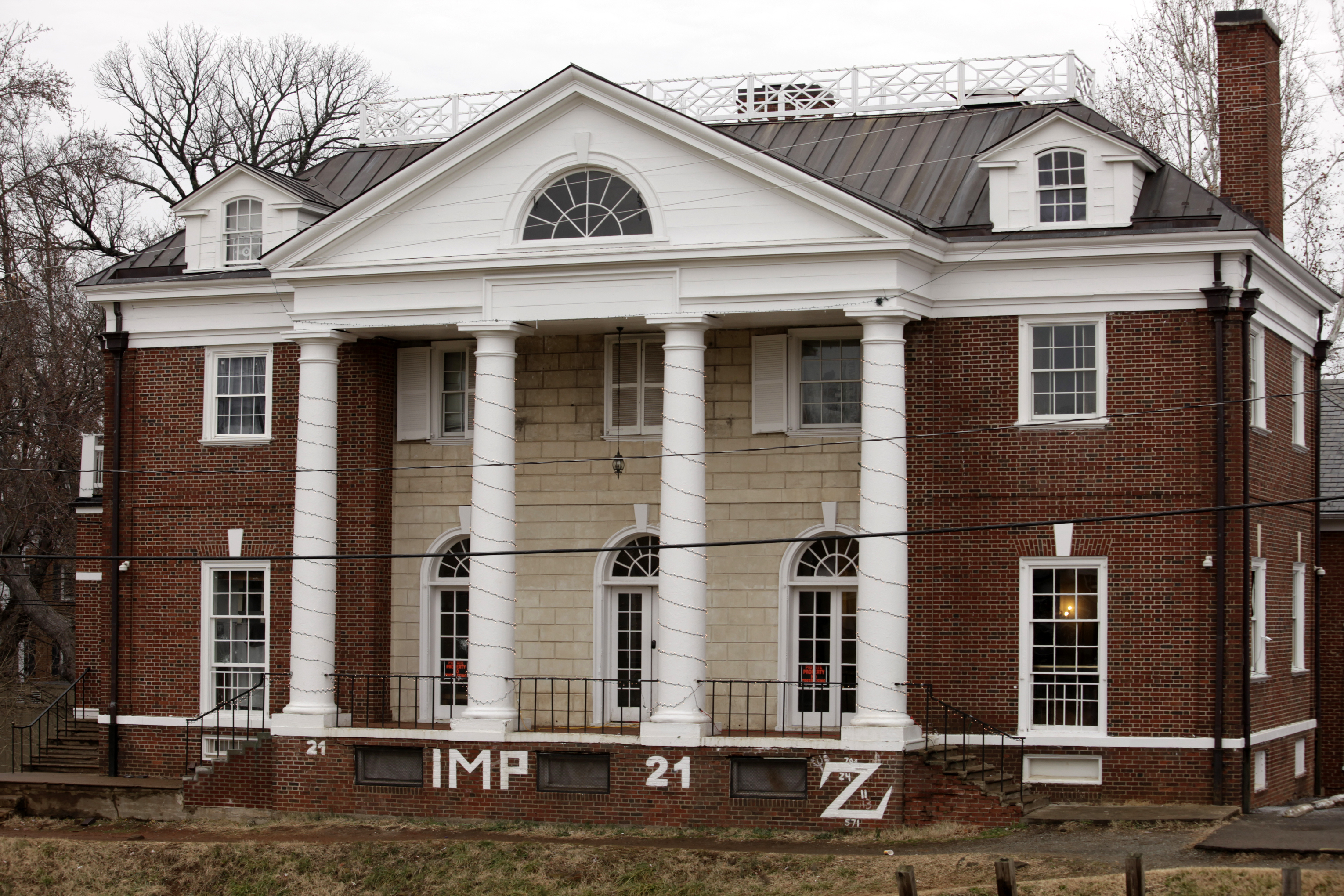 The Phi Kappa Psi fraternity house is seen on the University of Virginia campus on December 6, 2014 in Charlottesville, Virginia.