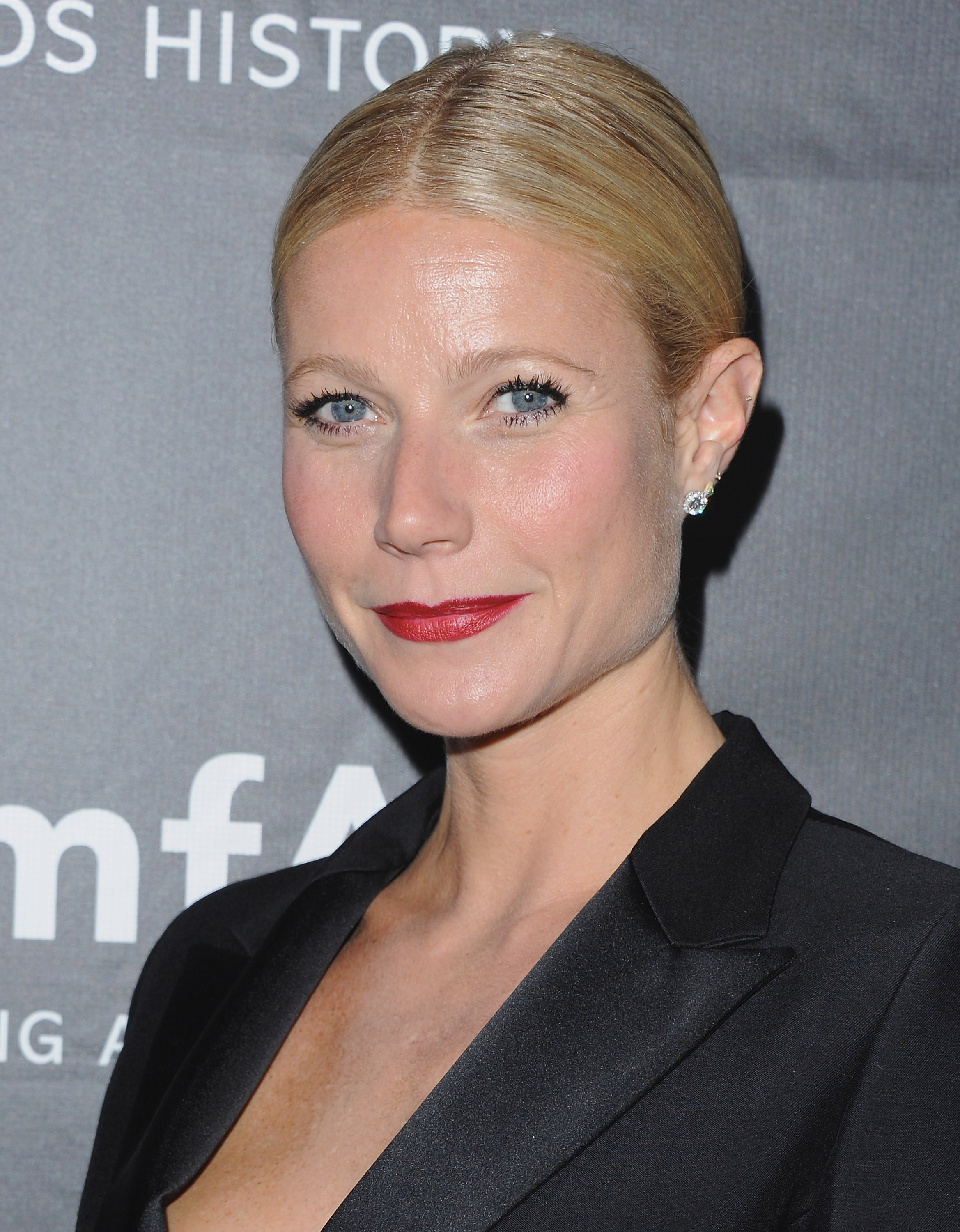 Actress Gwyneth Paltrow arrives at the 2014 amfAR LA Inspiration Gala at Milk Studios on October 29, 2014 in Hollywood, California.