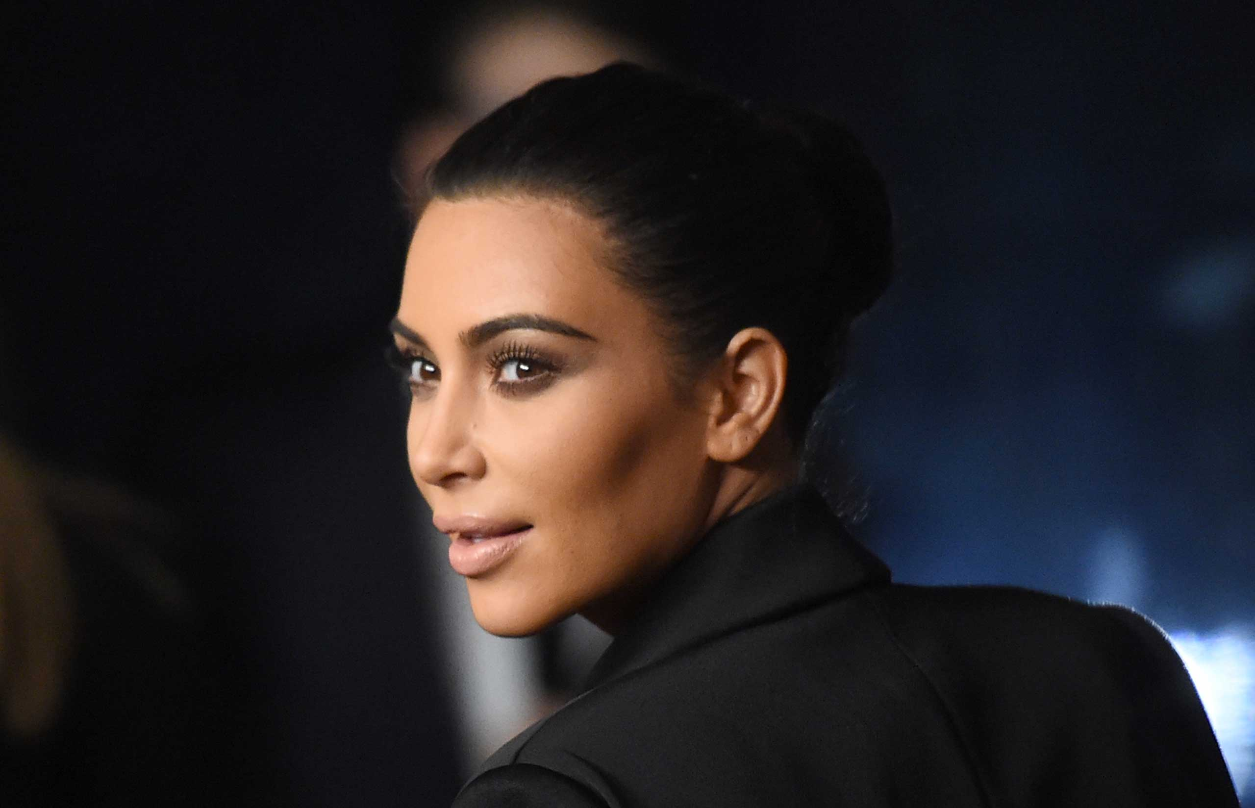 TV personality Kim Kardashian at Rihanna's First Annual Diamond Ball on Dec. 11, 2014 in Beverly Hills, Calif.