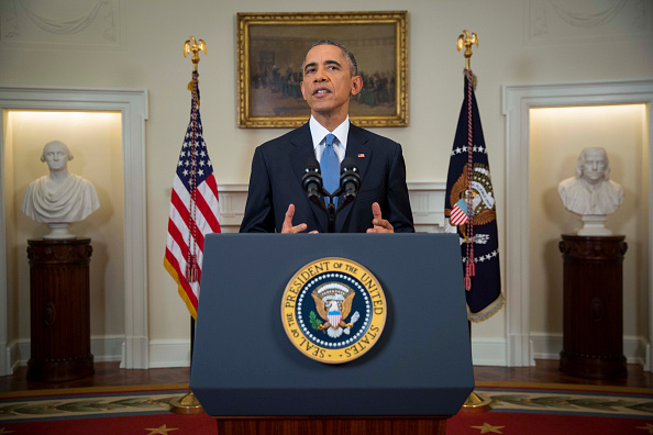 U.S. President Barack Obama speaks to the nation about normalizing diplomatic relations the Cuba in the Cabinet Room of the White House on Dec. 17, 2014 in Washington, D.C.