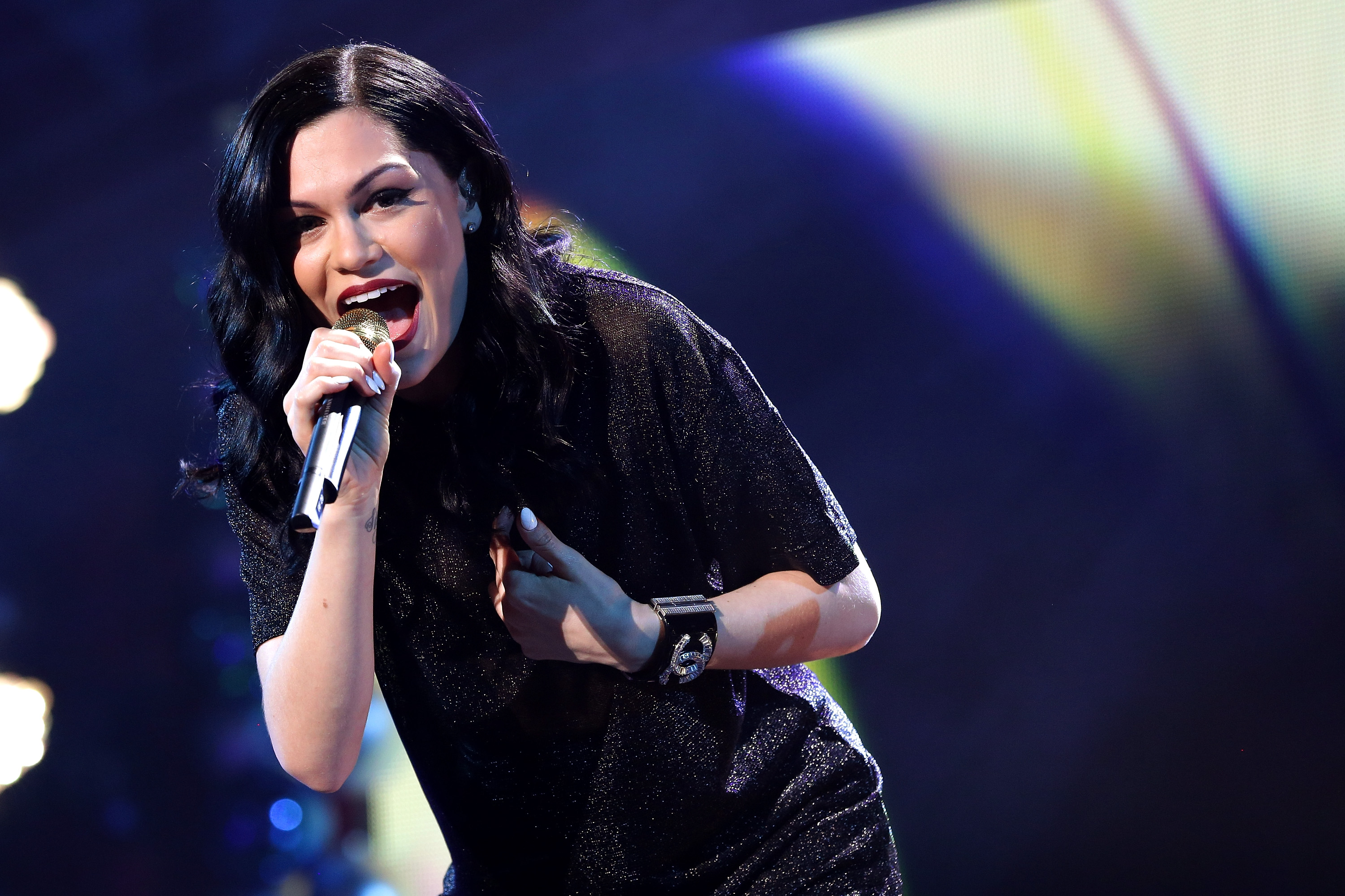 Jessie J performs onstage during 93.3 FLZ's Jingle Ball 2014.
