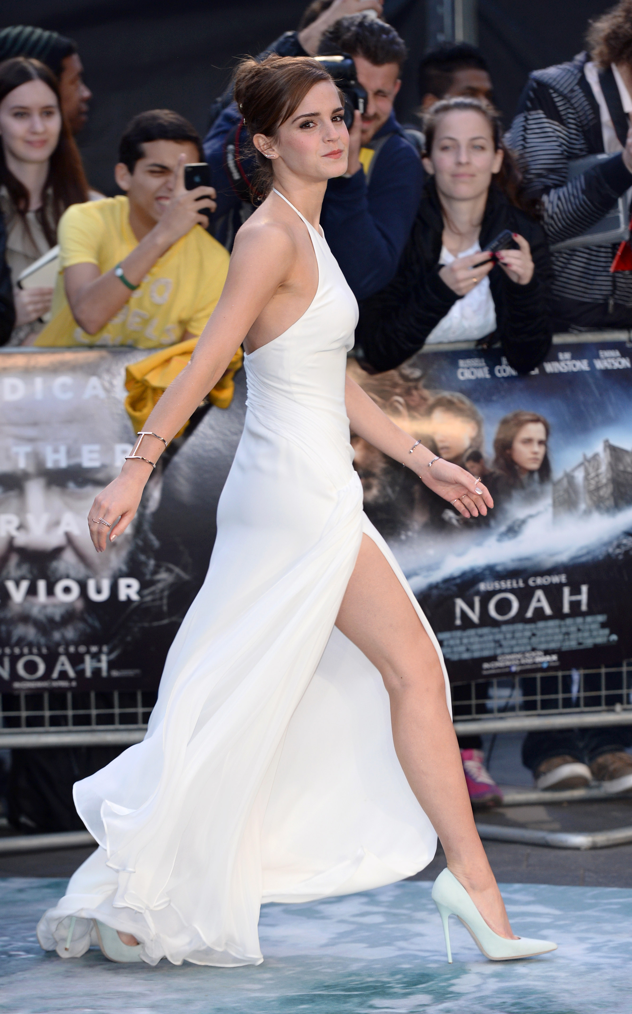 Emma Watson attends the UK premiere of  Noah  held at the Odeon Leicester Square on March 31, 2014 in London, England.  (Karwai Tang--WireImage)