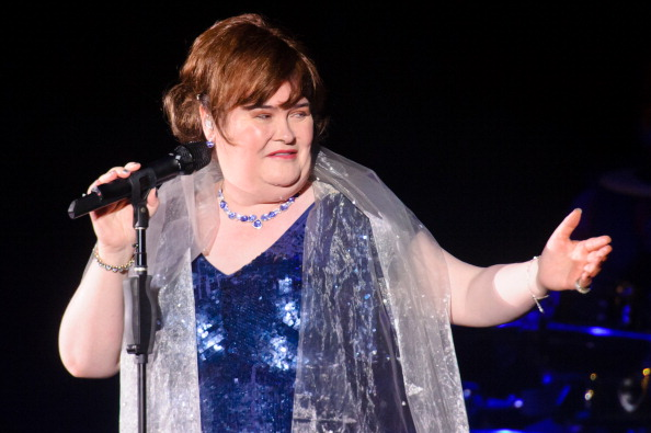 Susan Boyle performs at Eventim Apollo, Hammersmith, in London on April 6, 2014