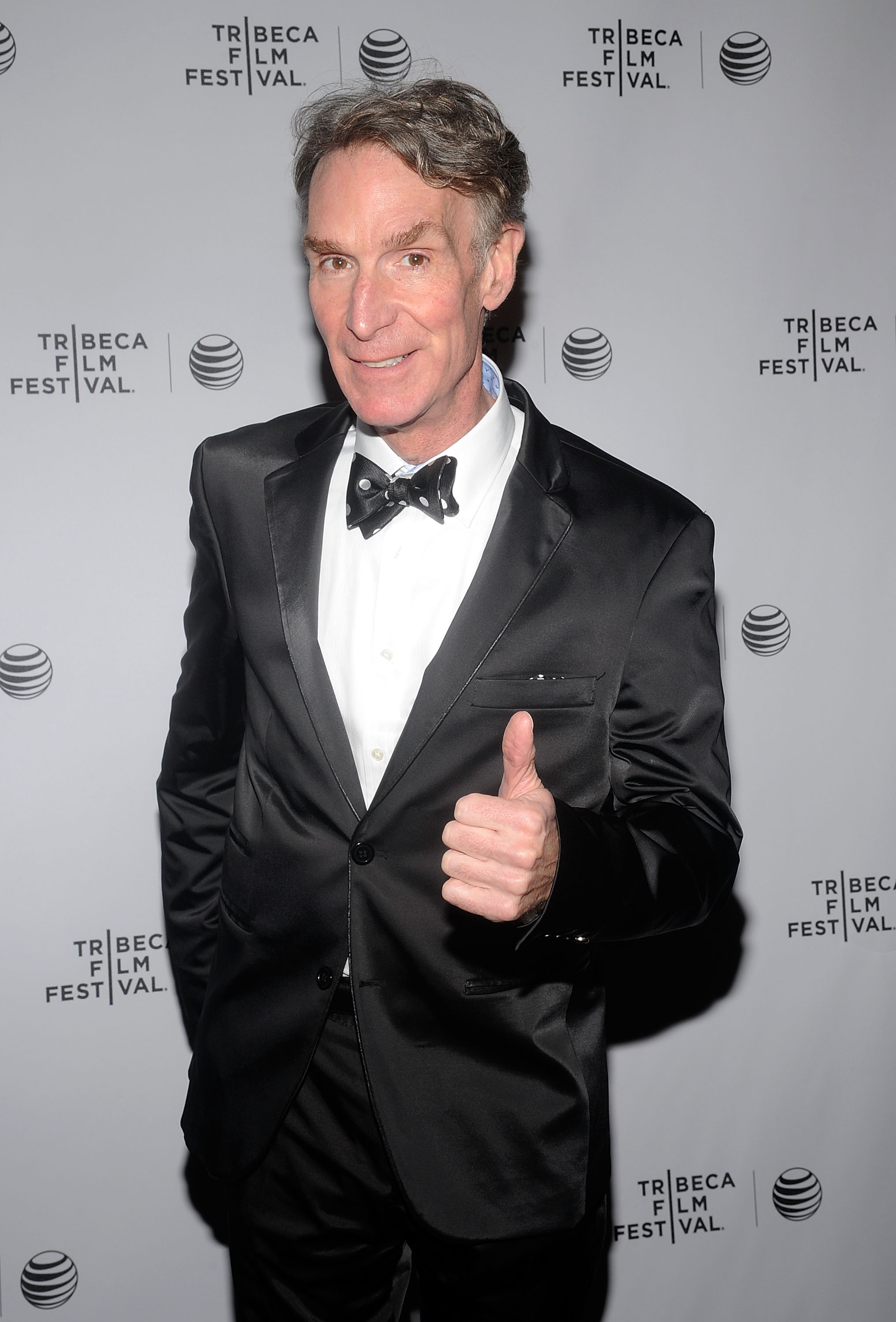 American science educator Bill Nye attends  An Honest Liar  Premiere during the 2014 Tribeca Film Festival at SVA Theater on April 18, 2014 in New York City.