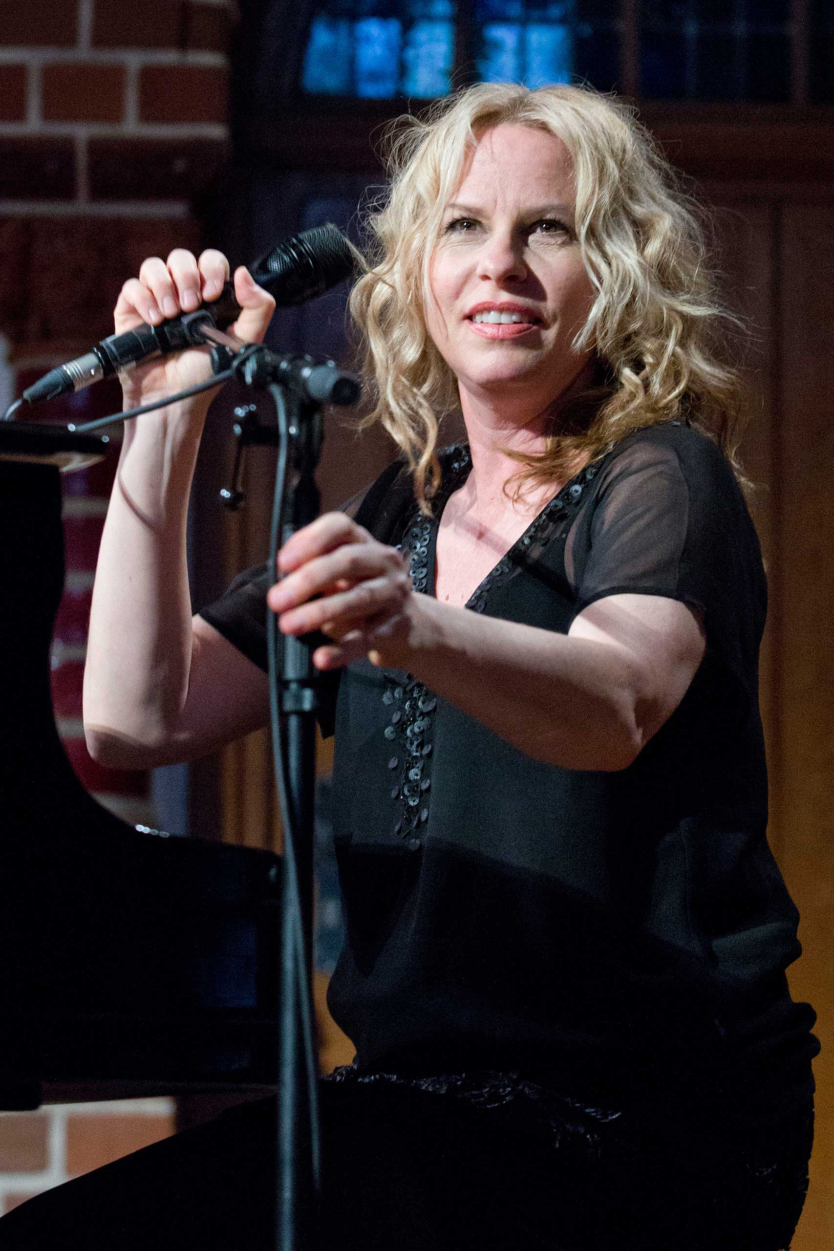 Vonda Shepard performs live during a concert at the Passionskirche on May 8, 2014 in Berlin.