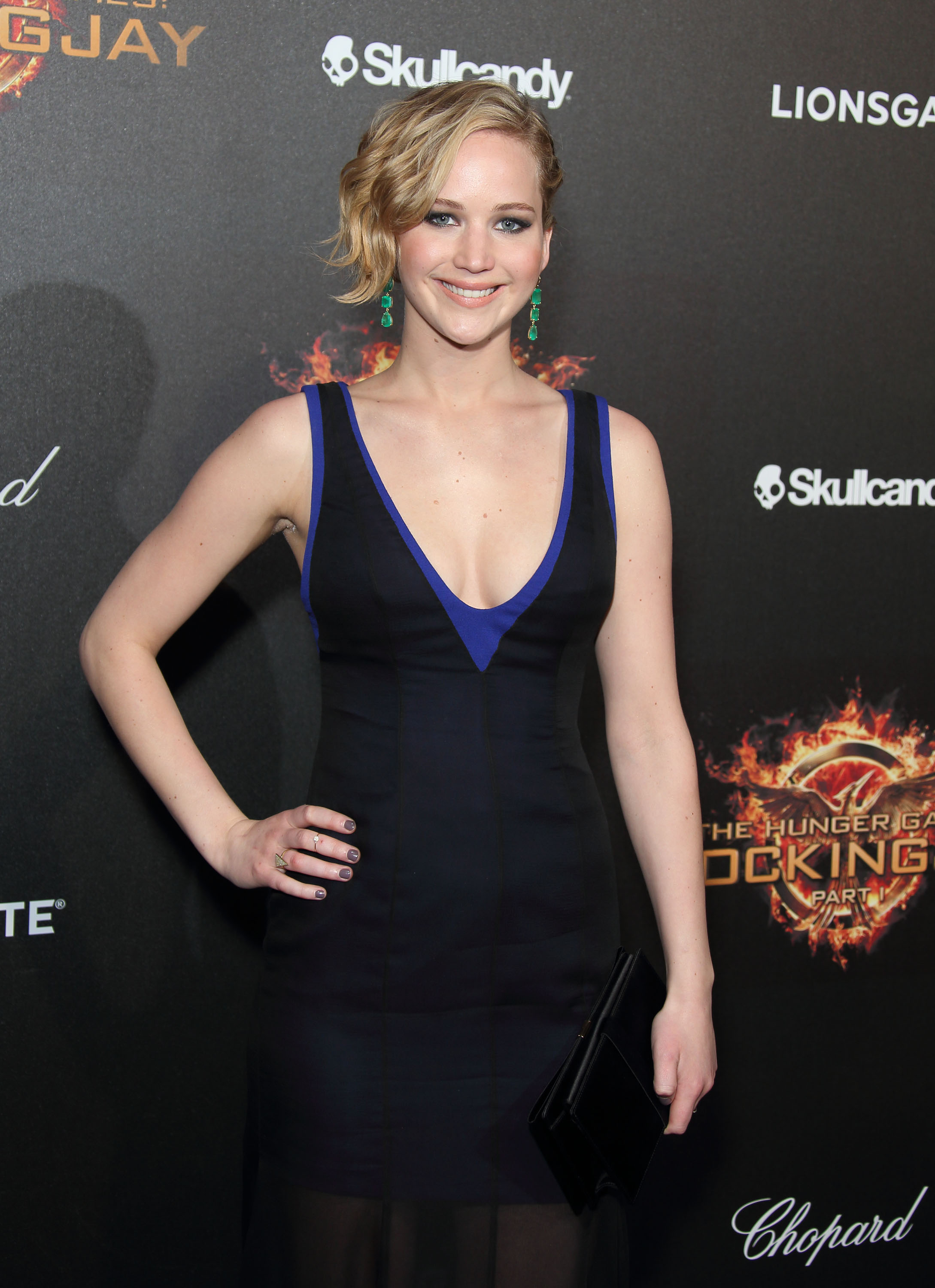 Jennifer Lawrence attends the  The Hunger Games: Mockingjay Part 1   party  at the 67th Annual Cannes Film Festival on May 17, 2014 in Cannes, France.