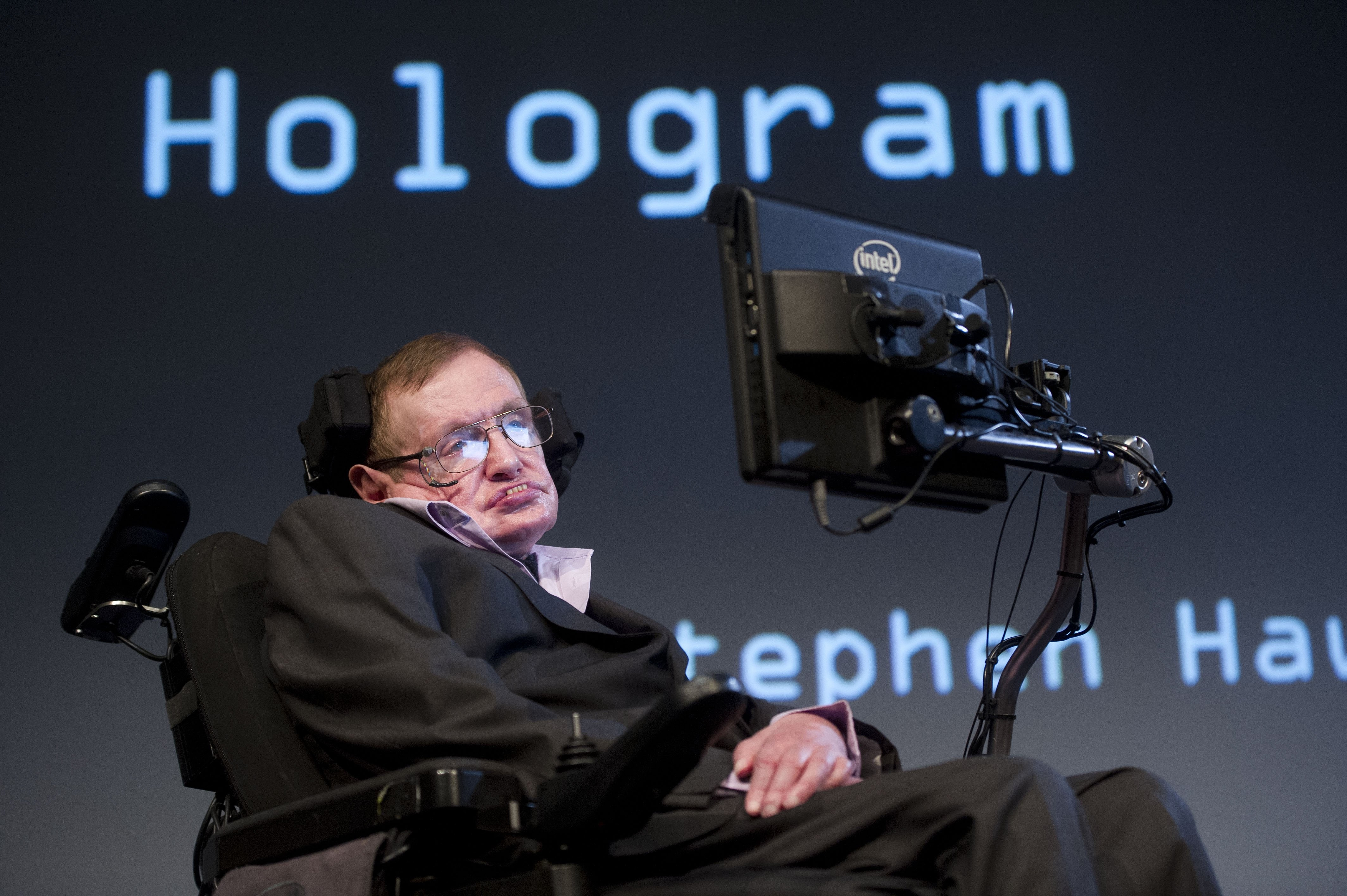 British theoretical physicist professor Stephen Hawking attends a symposium in Amsterdam on May 23, 2014.