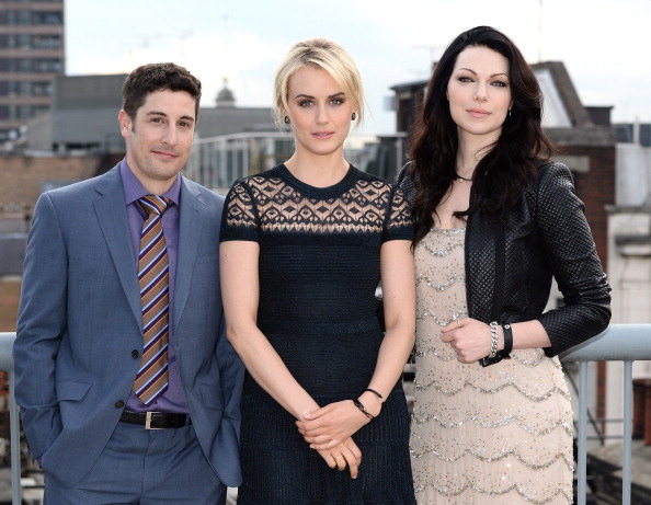 Jason Biggs, Taylor Schilling and Laura Prepon attend a photocall to launch season 2 of the Netflix exclusive series  Orange Is The New Black  at Soho Hotel on May 29, 2014 in London, England.