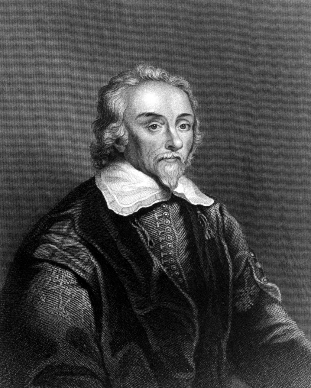 Engraving of English physician and anatomist William Harvey (1578-1657) who discovered the circulation of blood.  (Photo by Time Life Pictures/Mansell/The LIFE Picture Collection/Getty Images)
