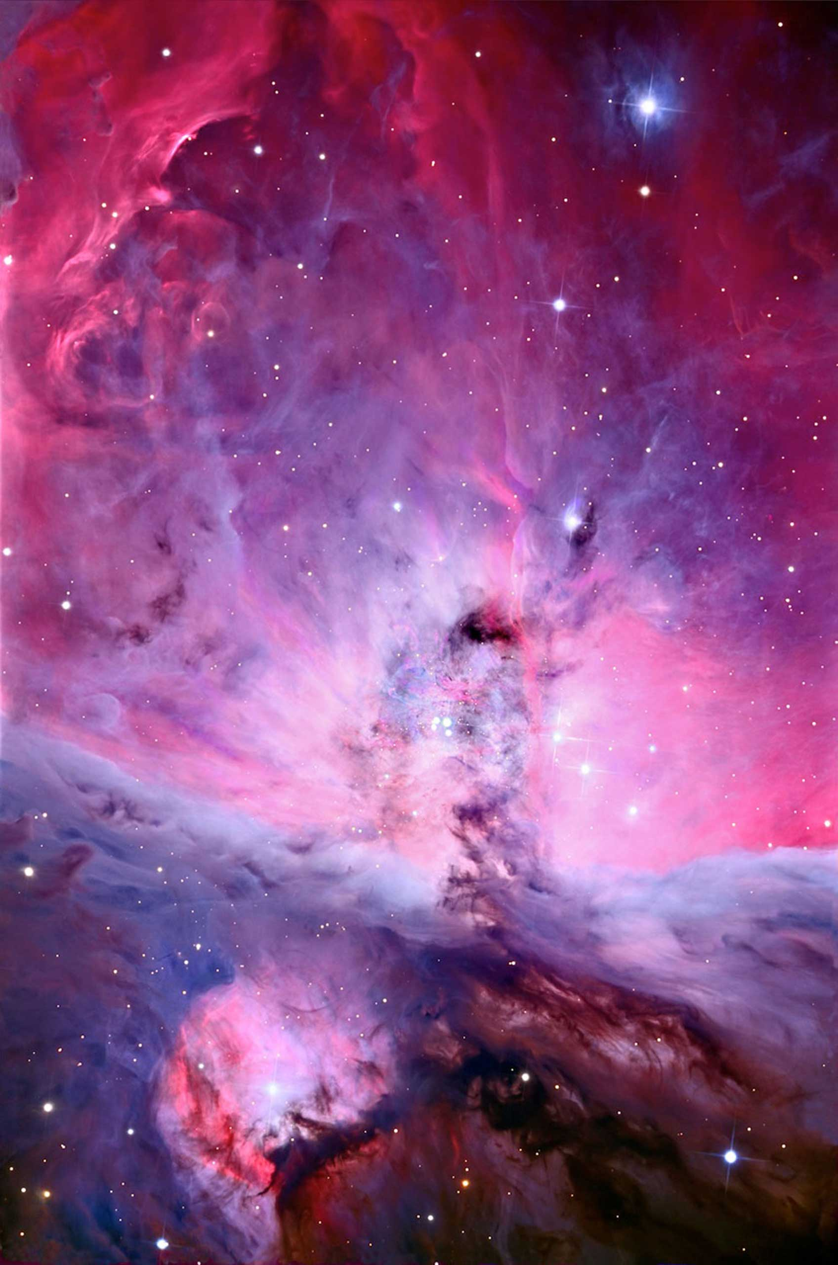 Orion nebula's center, a cloud of gas and dust known more prosaically as M42.