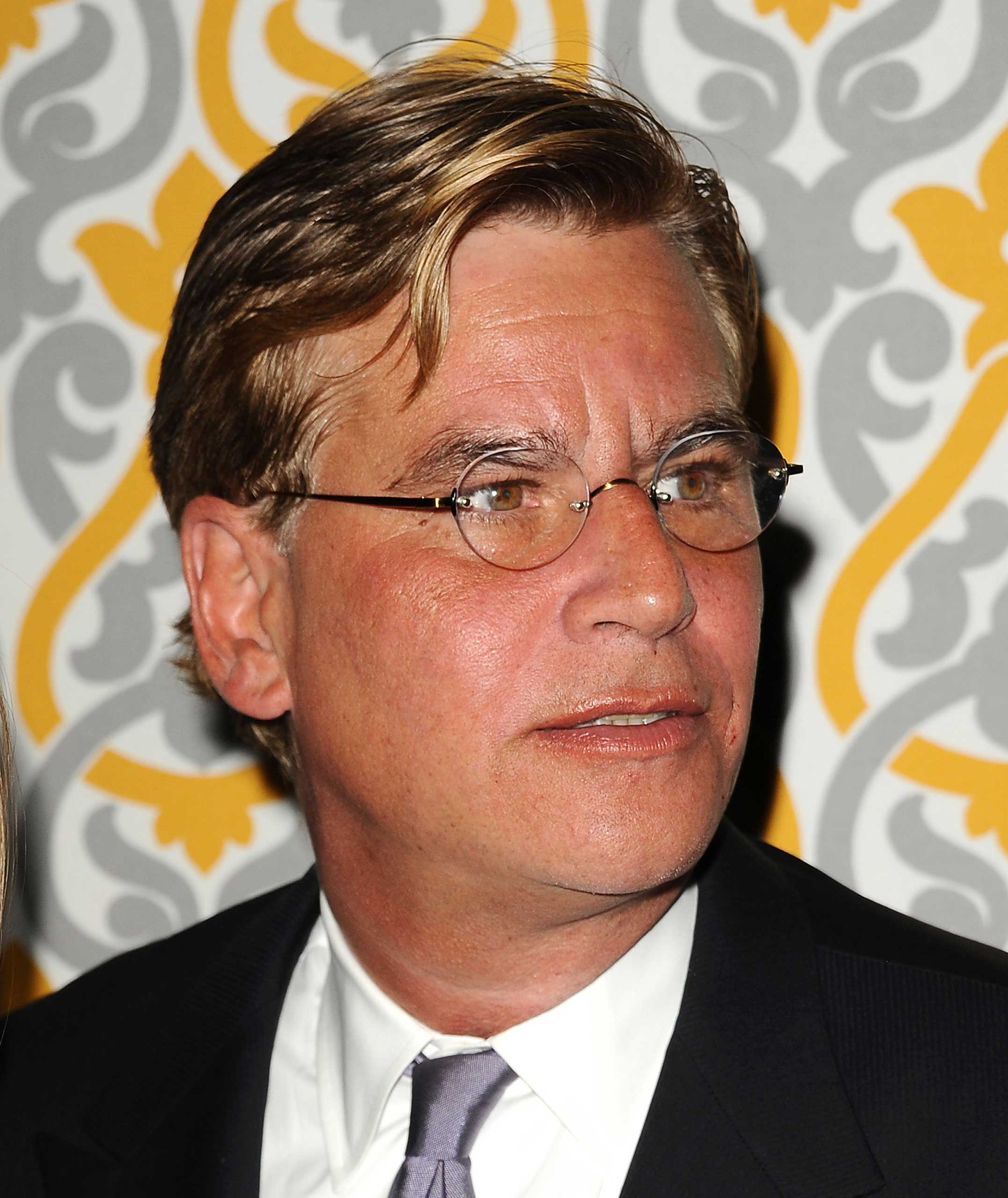 LOS ANGELES, CA - NOVEMBER 04:  Writer Aaron Sorkin attends the premiere of  The Newsroom  at DGA Theater on November 4, 2014 in Los Angeles, California.