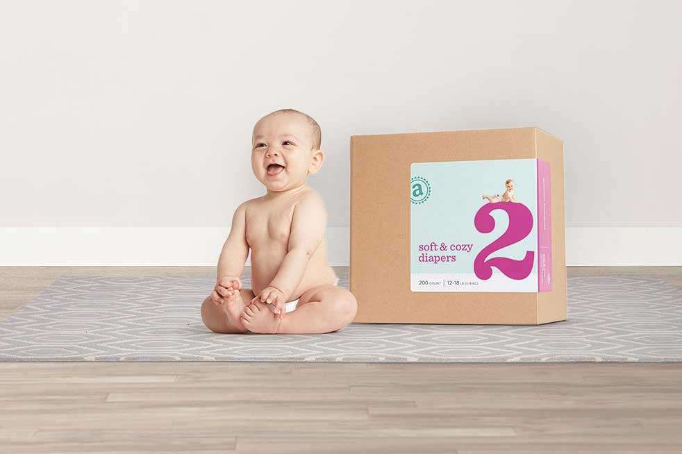 Amazon released a new line of products for Prime members Thursday, beginning with diapers and baby wipes