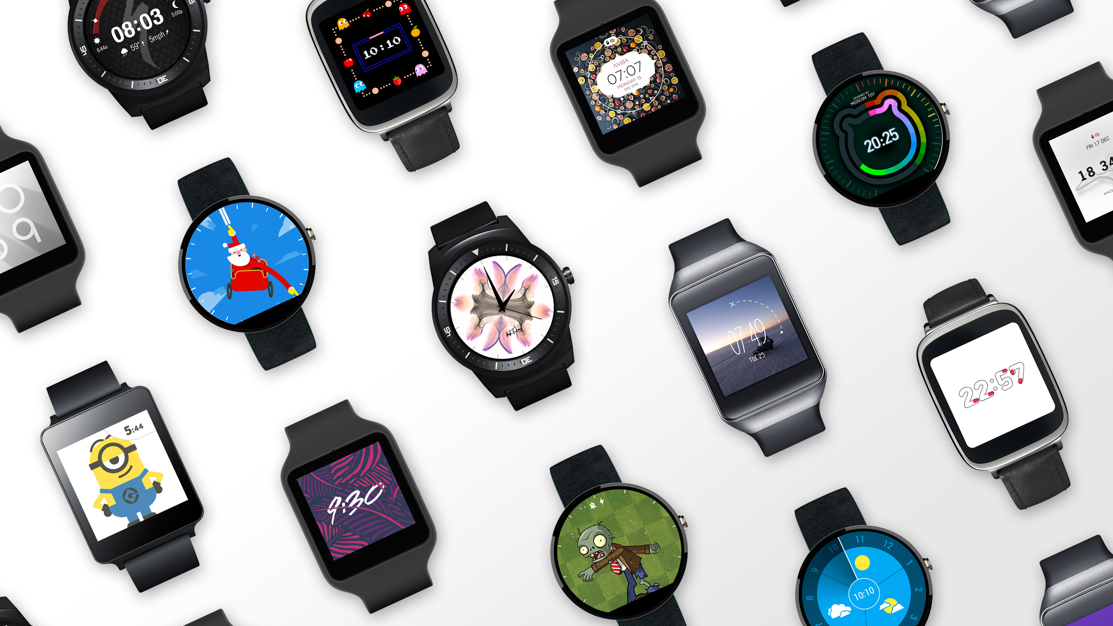 Dozens of custom Android Wear watch faces will soon be available for download on the Google Play store.