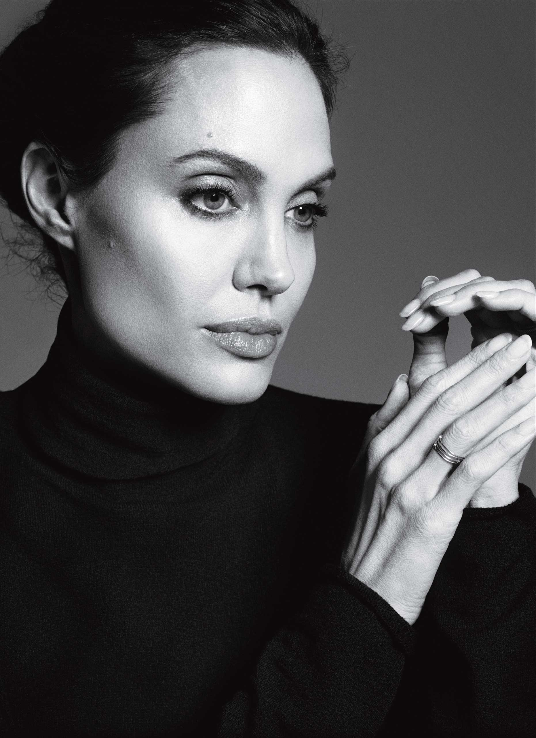 Angelina Jolie. From  The Lady and The Scamp. Angelina Jolie Finds Her Equal.  Dec. 1 / Dec. 8, 2014 issue.