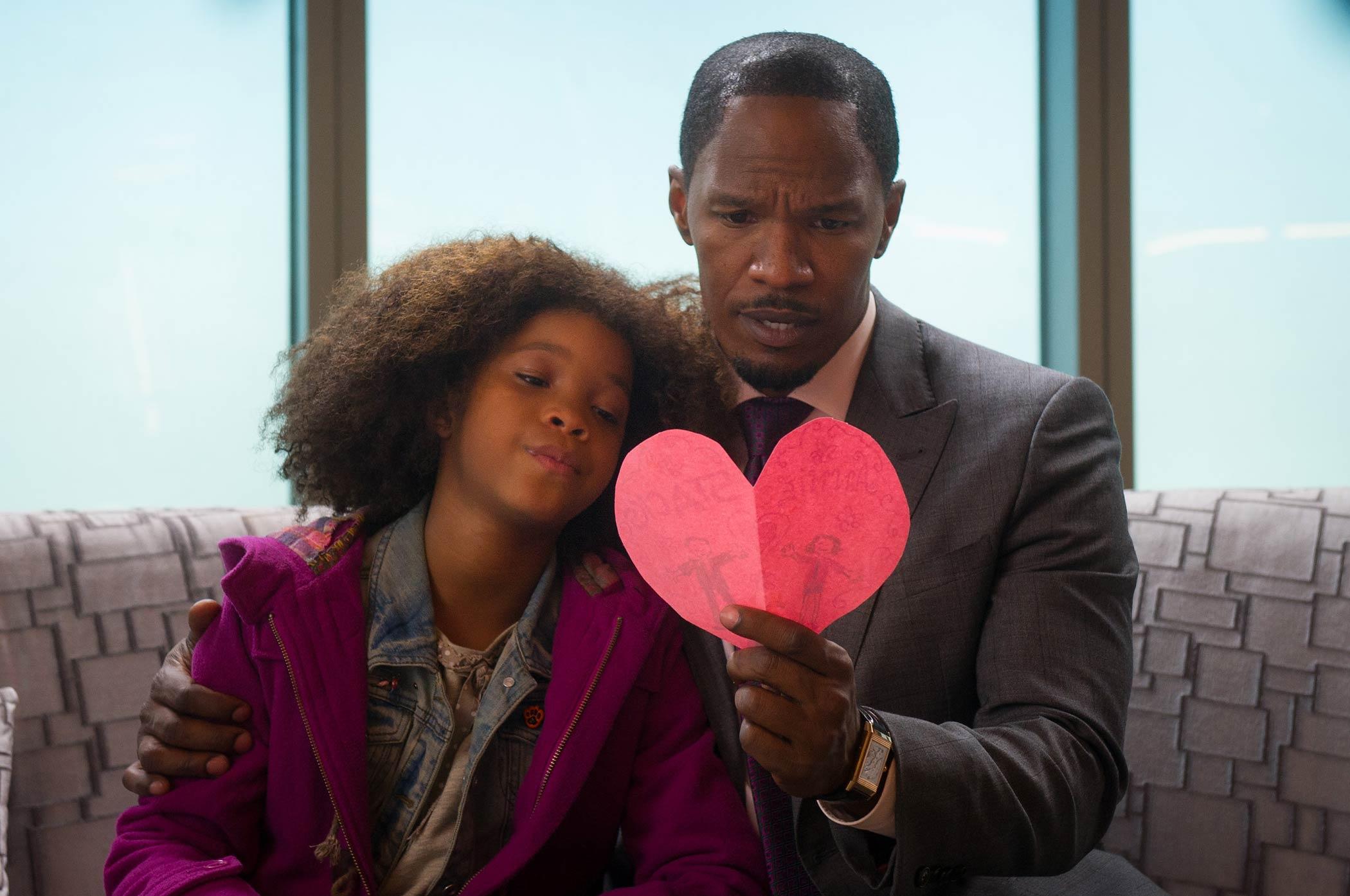 Quvenzhané Wallis stars as Annie alongside Jamie Foxx as Will Stacks in Annie